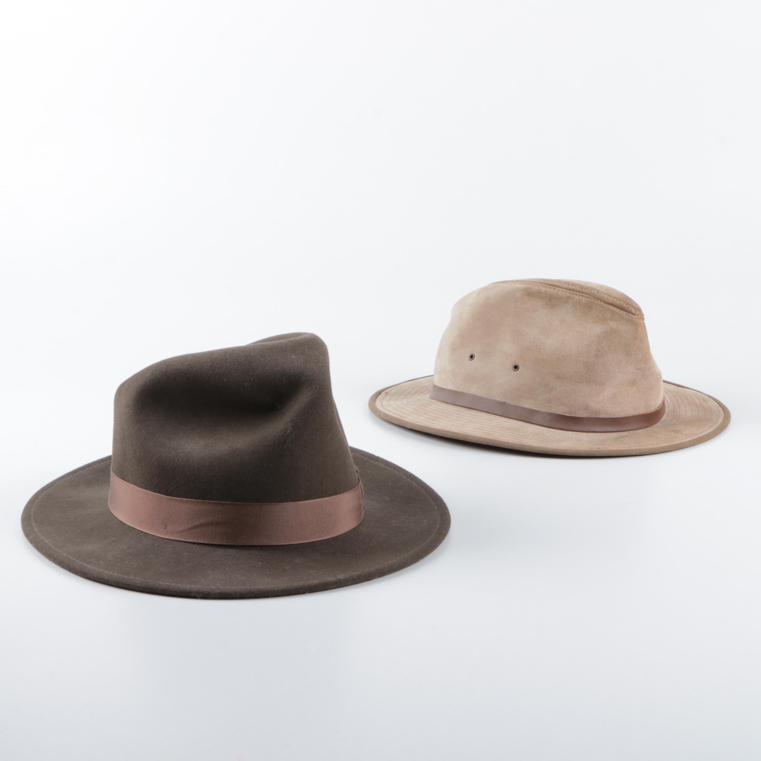 Orvis Lite Felt and Henschel Suede Hats