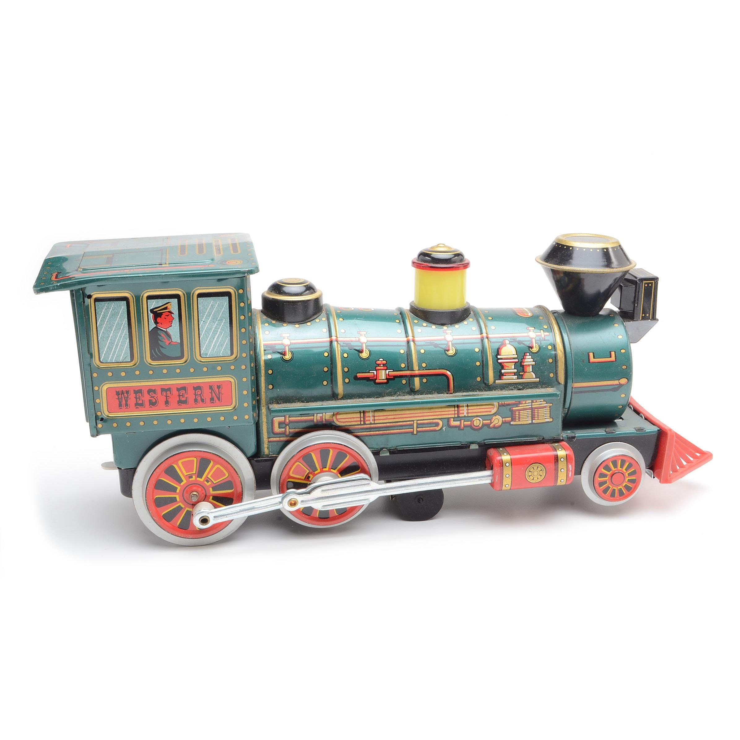 """Vintage """"Western Special Locomotive"""" Toy In Original Box"""