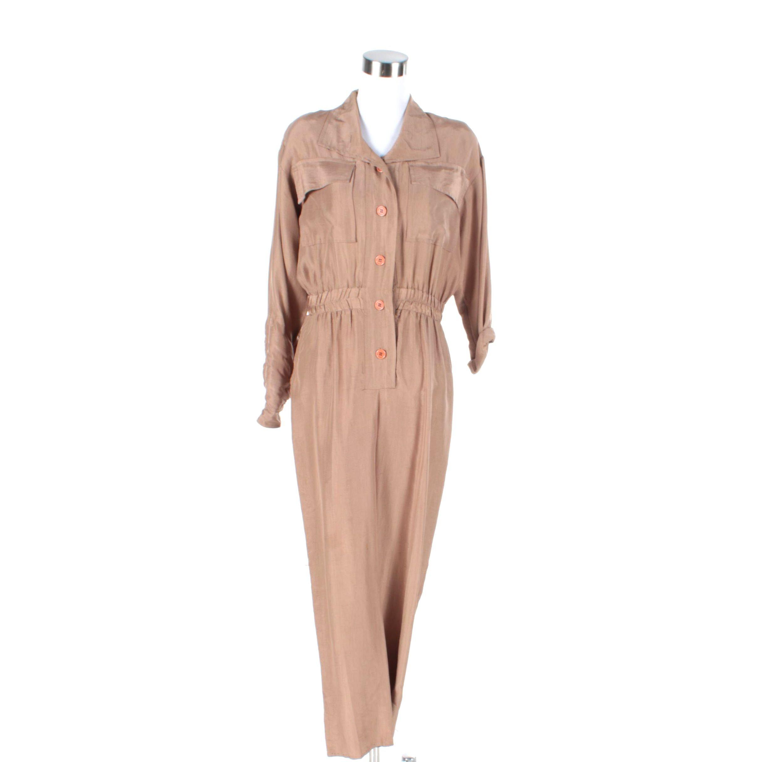 Vintage I. Magnin Silk Jumpsuit
