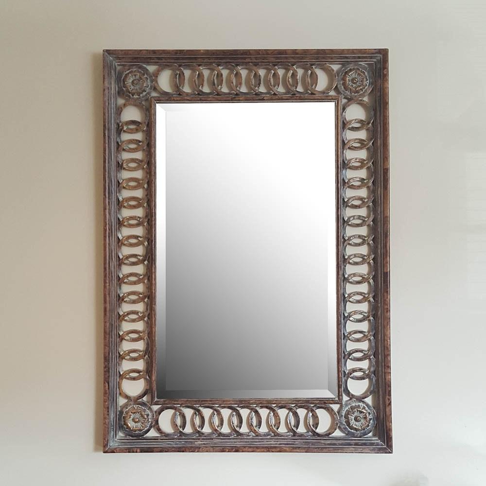 Ornately Framed Wall Mirror