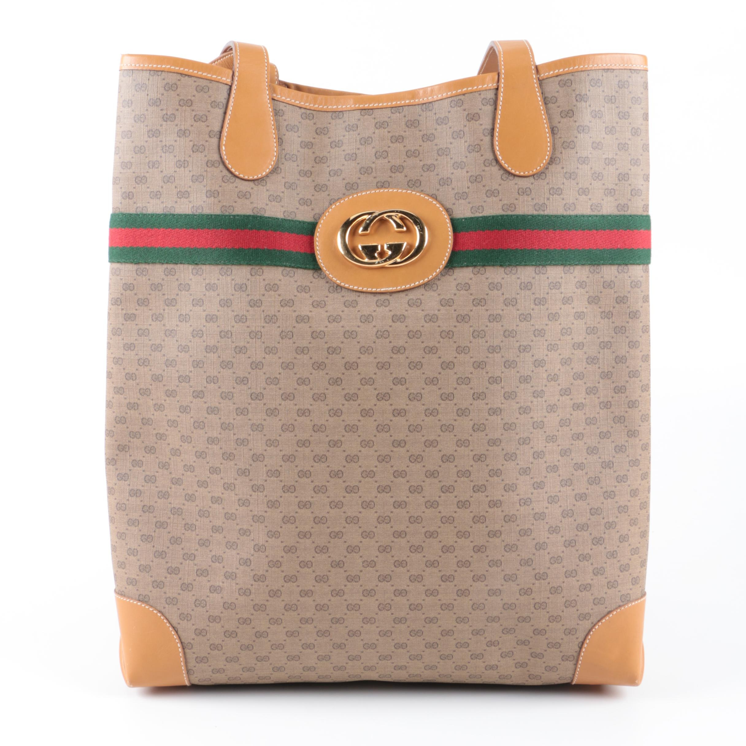 Gucci Supreme Canvas Tote Bag