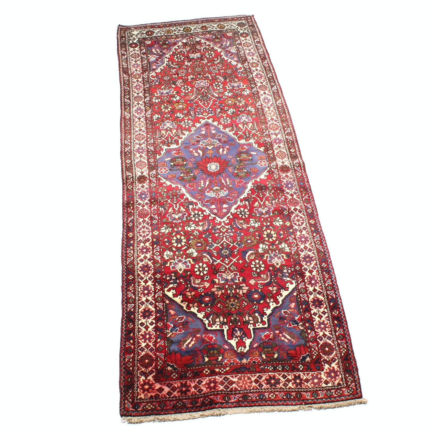 Vintage Hand-Knotted Persian Malayer Sarouk Carpet Runner