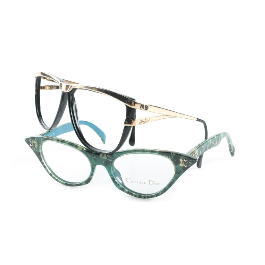 Christian Dior and Valentino Eyeglass Frames : EBTH