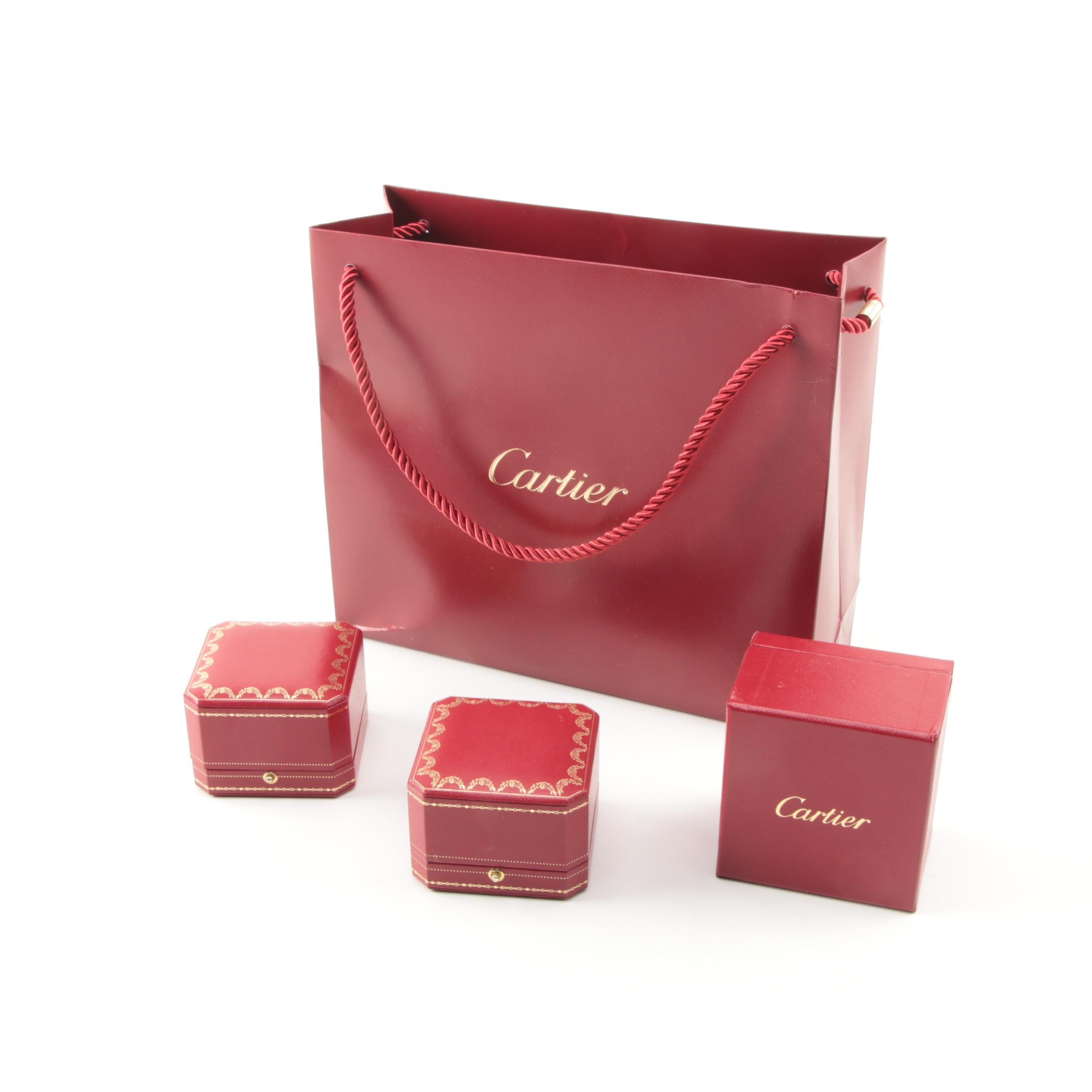 Cartier Boxes and Bag