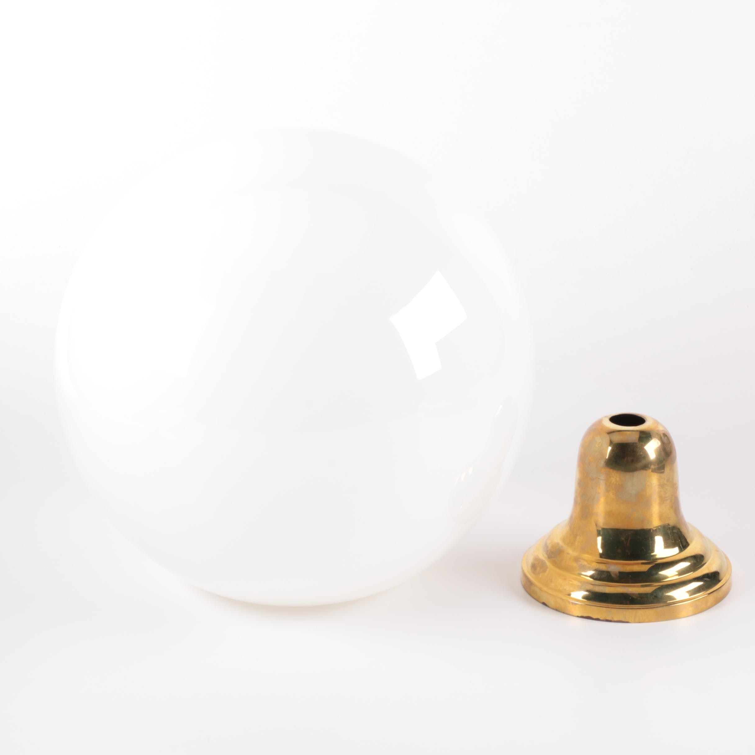 Glass Dome Light Fixture Shade and Mount