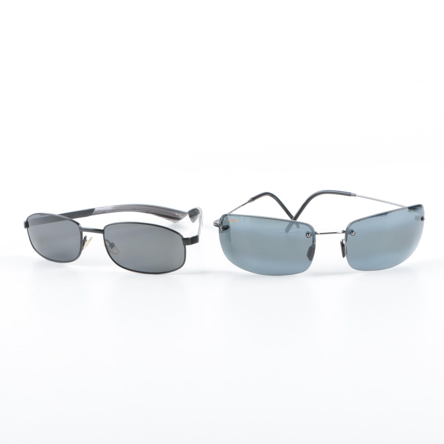 a5d08c65777 Giorgio Armani and Maui Jim Flexon Sunglasses with Cases   EBTH