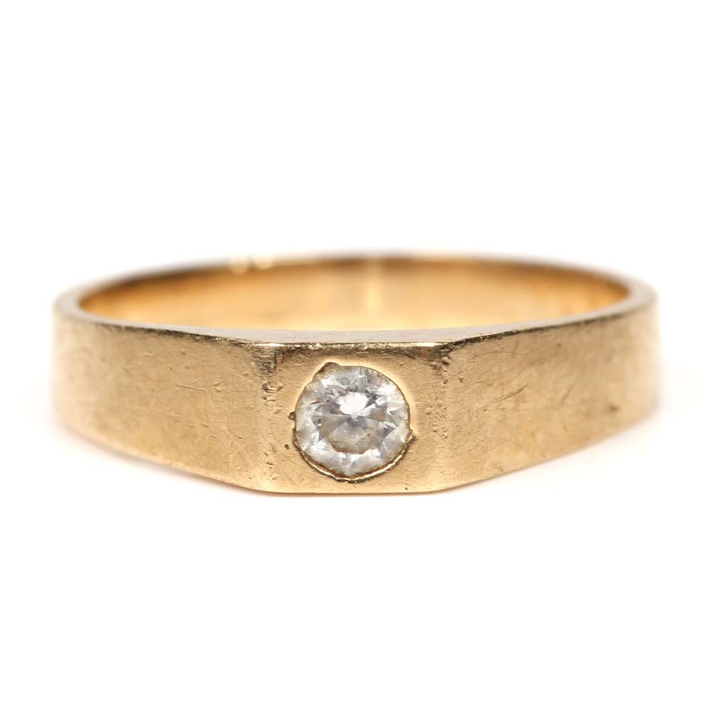 10K Yellow Gold and Cubic Zirconia Ring