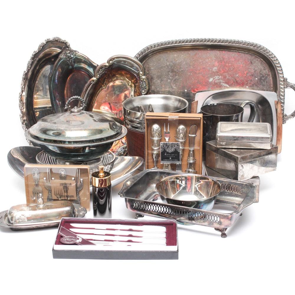 Silver Plate Serveware Assortment