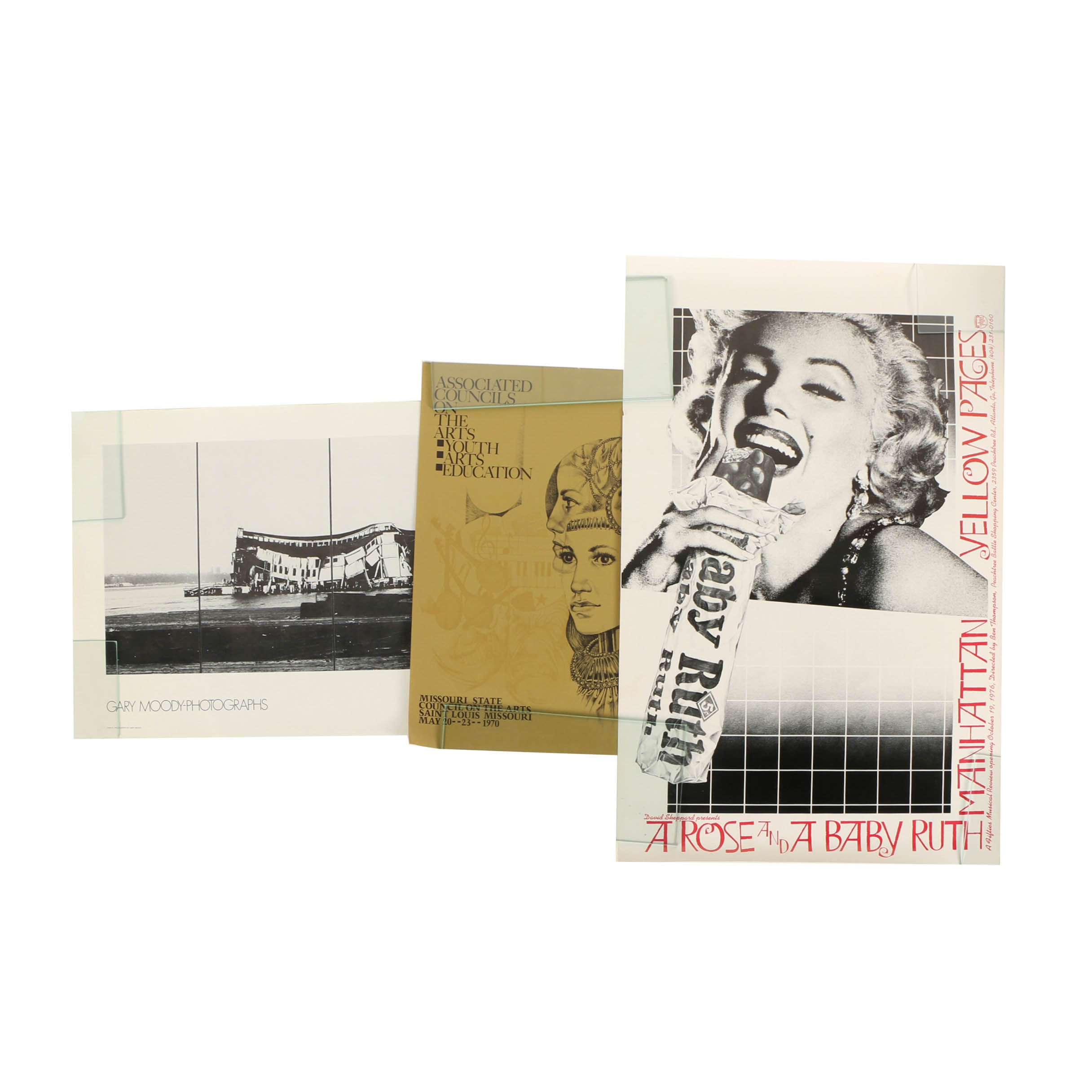 Halftone Prints on Paper of Art Exhibitions