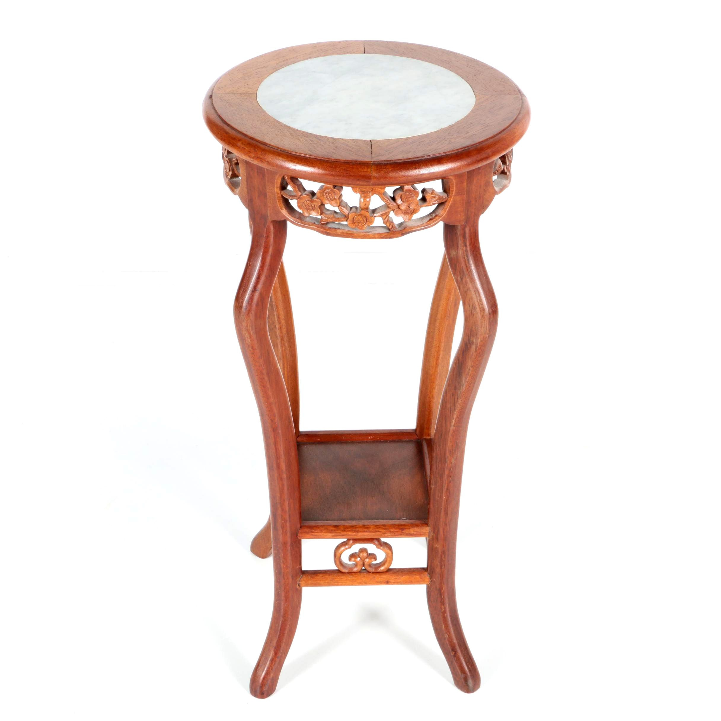 Chinese Marble Inset Plant Stand