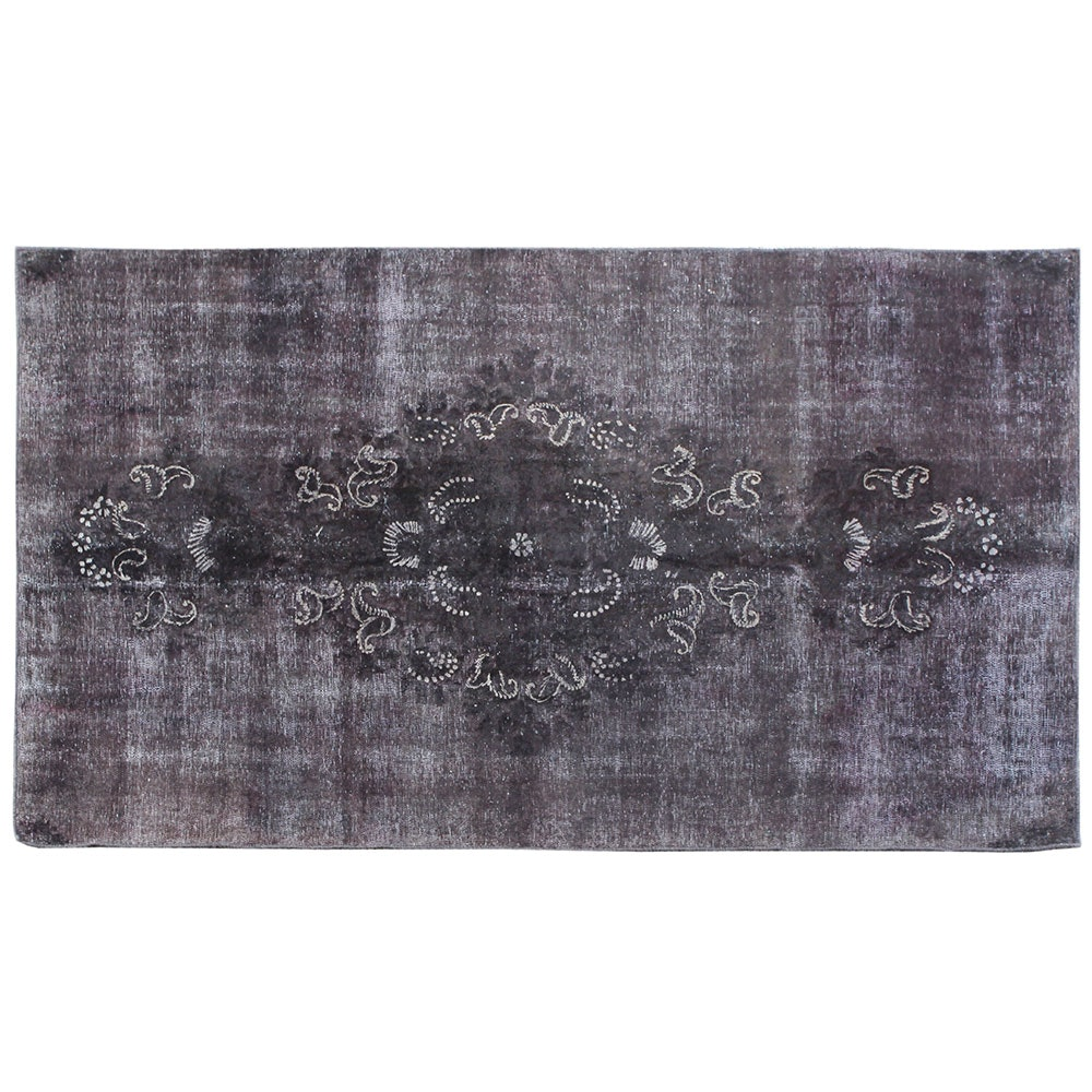 Hand-Knotted Persian-Inspired Overdyed Area Rug