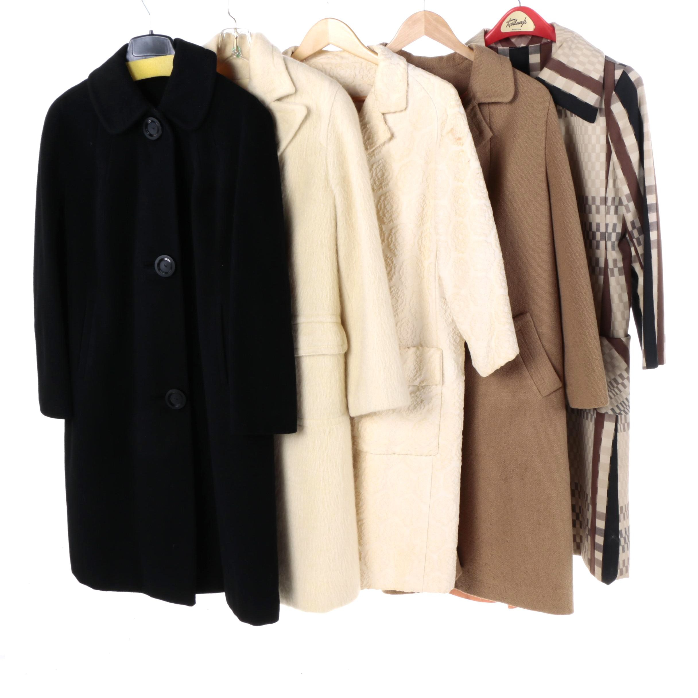 Vintage Mid Century Cashmere, Wool, and Brocade Coats