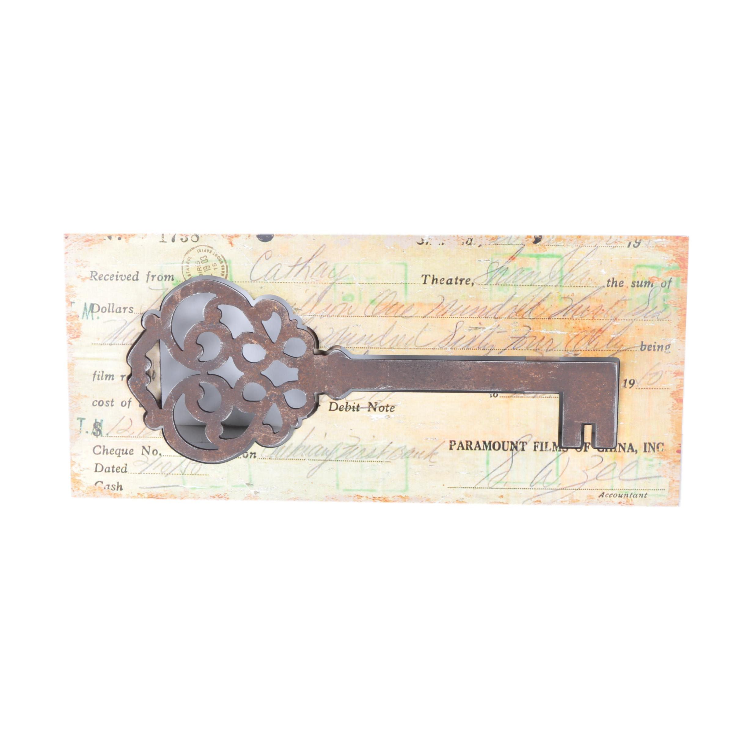 Pierced Key Wall Art