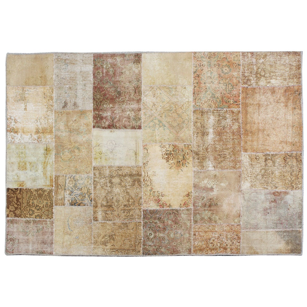 Handwoven Turkish Patchwork Area Rug