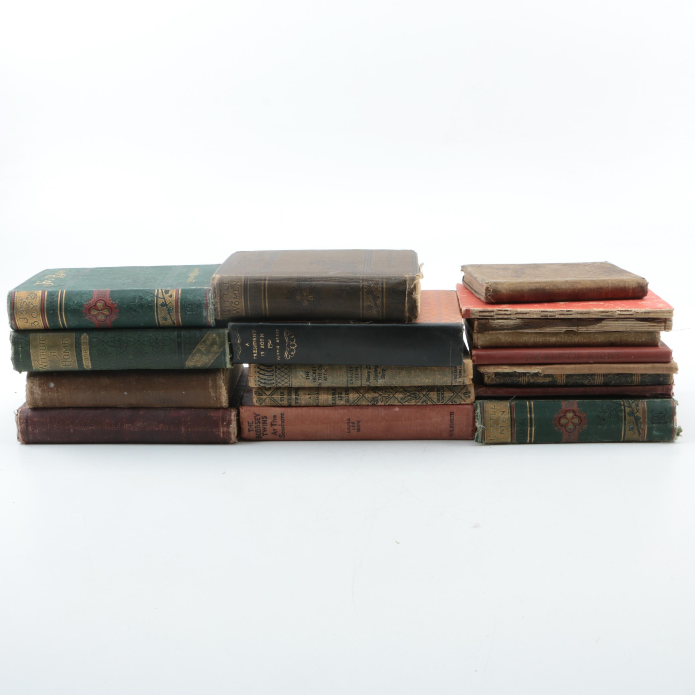 """Books Including 1886 Early Edition """"Jo's Boys"""" by Louisa May Alcott"""