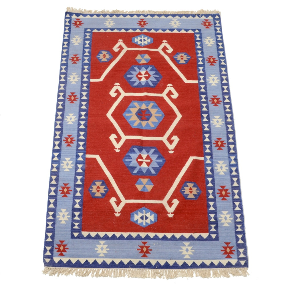 Contemporary Handwoven Turkish Kilim