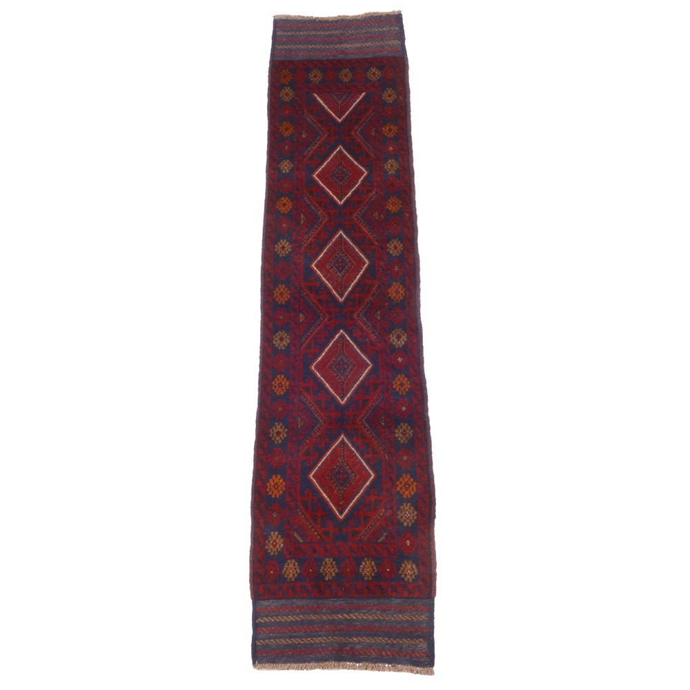 Hand Knotted Turkmen Wool Carpet Runner