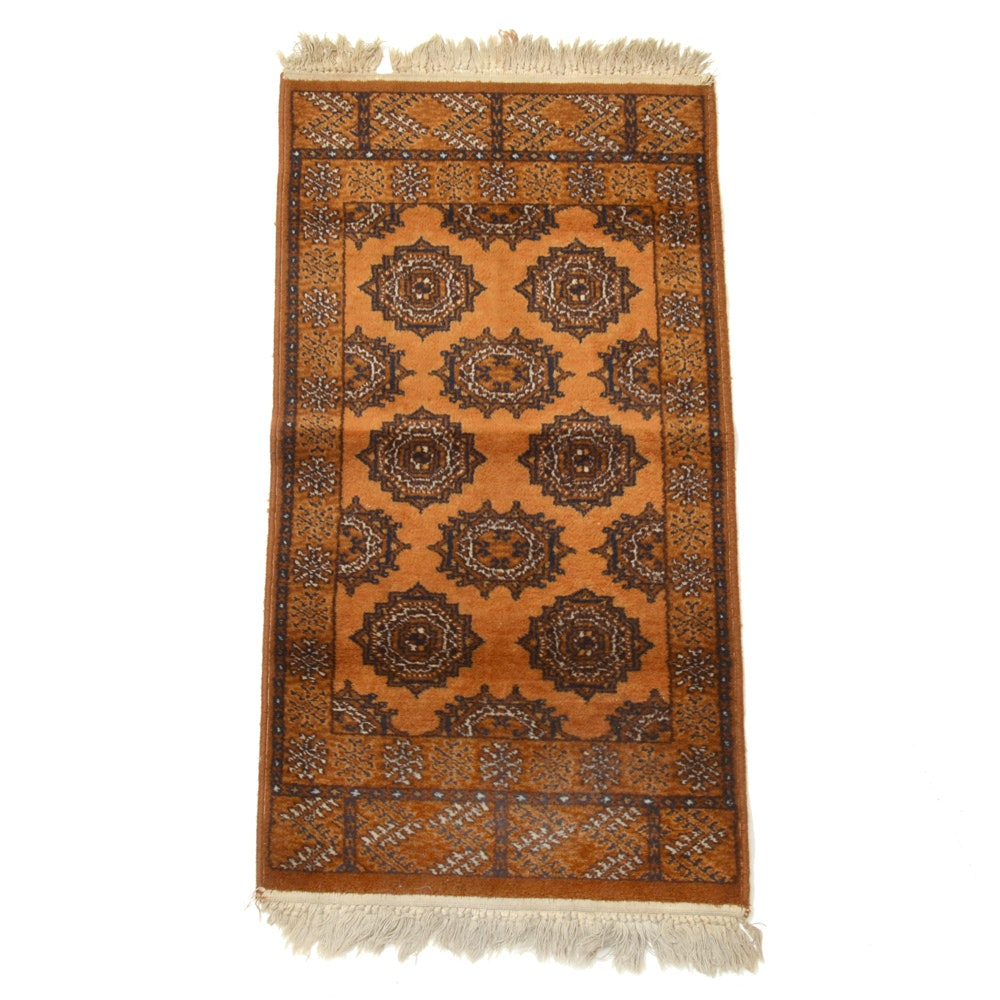Power-Loomed Pakistani Bokhara-Style Accent Rug