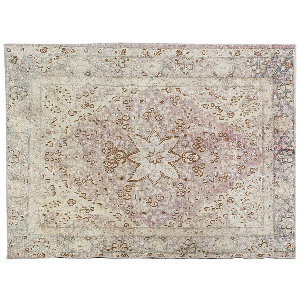 Hand-Knotted Overdyed Turkish Area Rug
