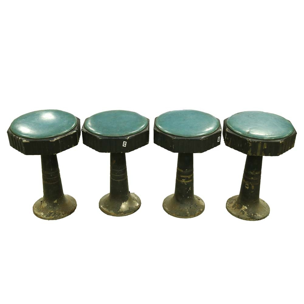 Four Vintage Counter Stools