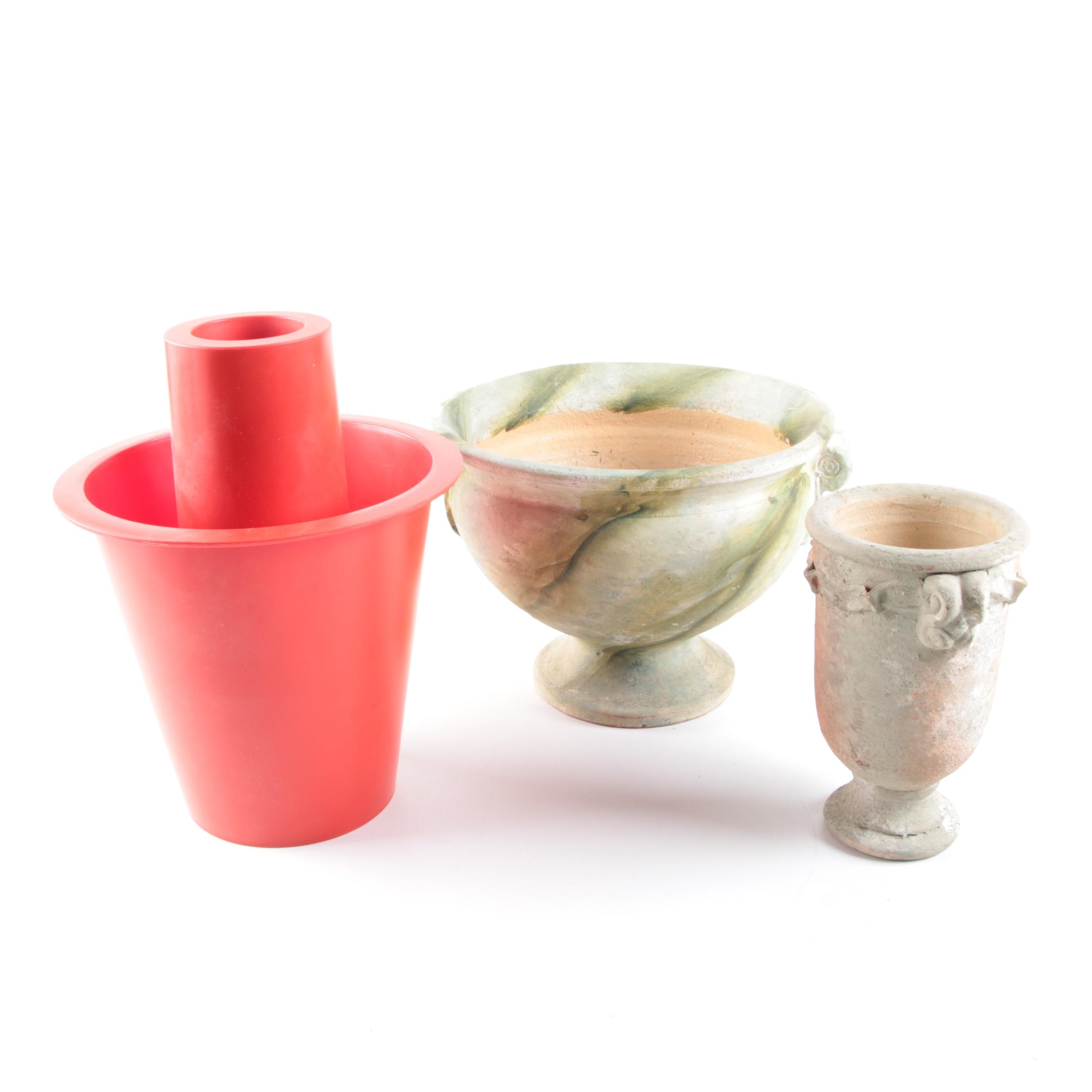 Pair of Stone Urn Style Planters
