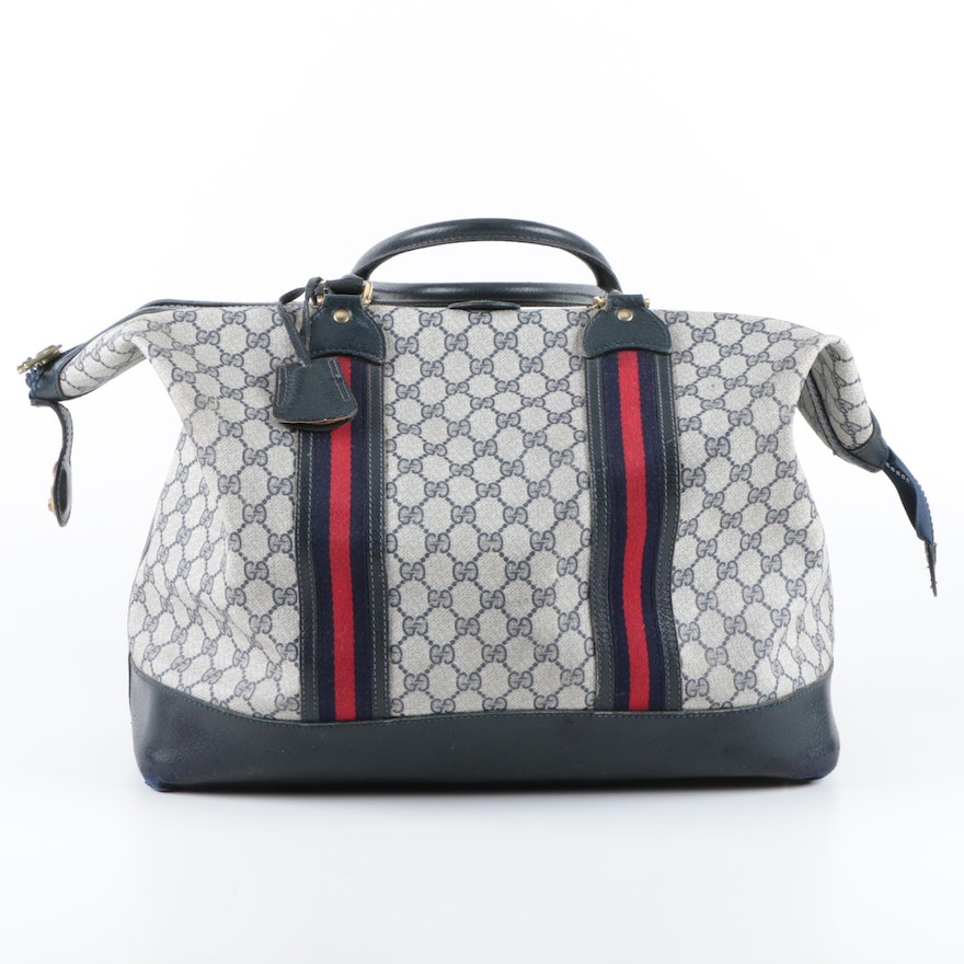 df6e3322bde4 Vintage Gucci Supreme Canvas Duffle Bag | EBTH