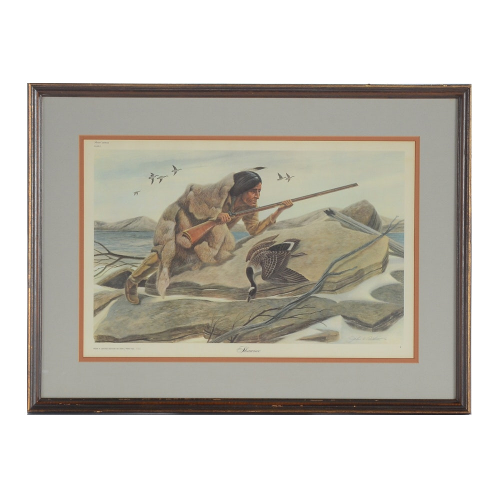 "John Ruthven Limited Edition Offset Lithograph ""Shawnee"""