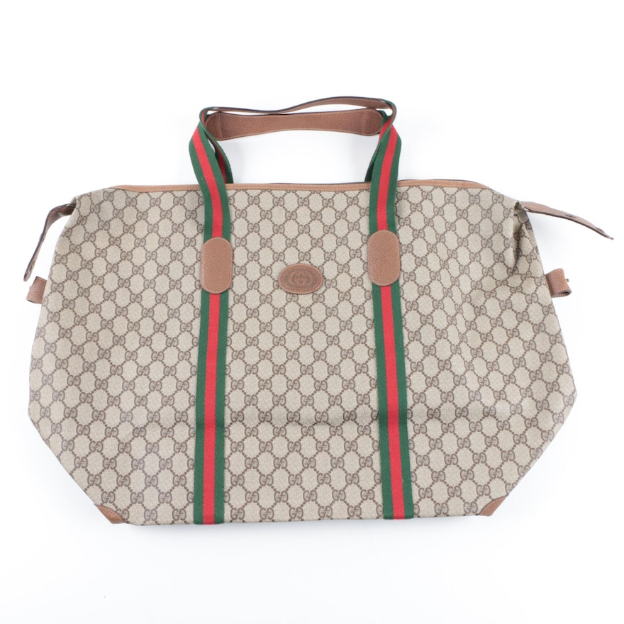 c22bab00c58 Vintage Gucci Accessory Collection Supreme GG Tote Bag   EBTH