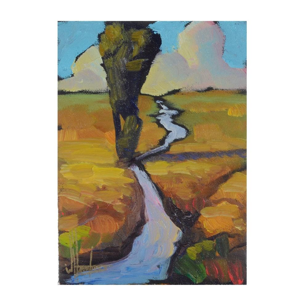 William Hawkins Signed Original Oil on Canvas