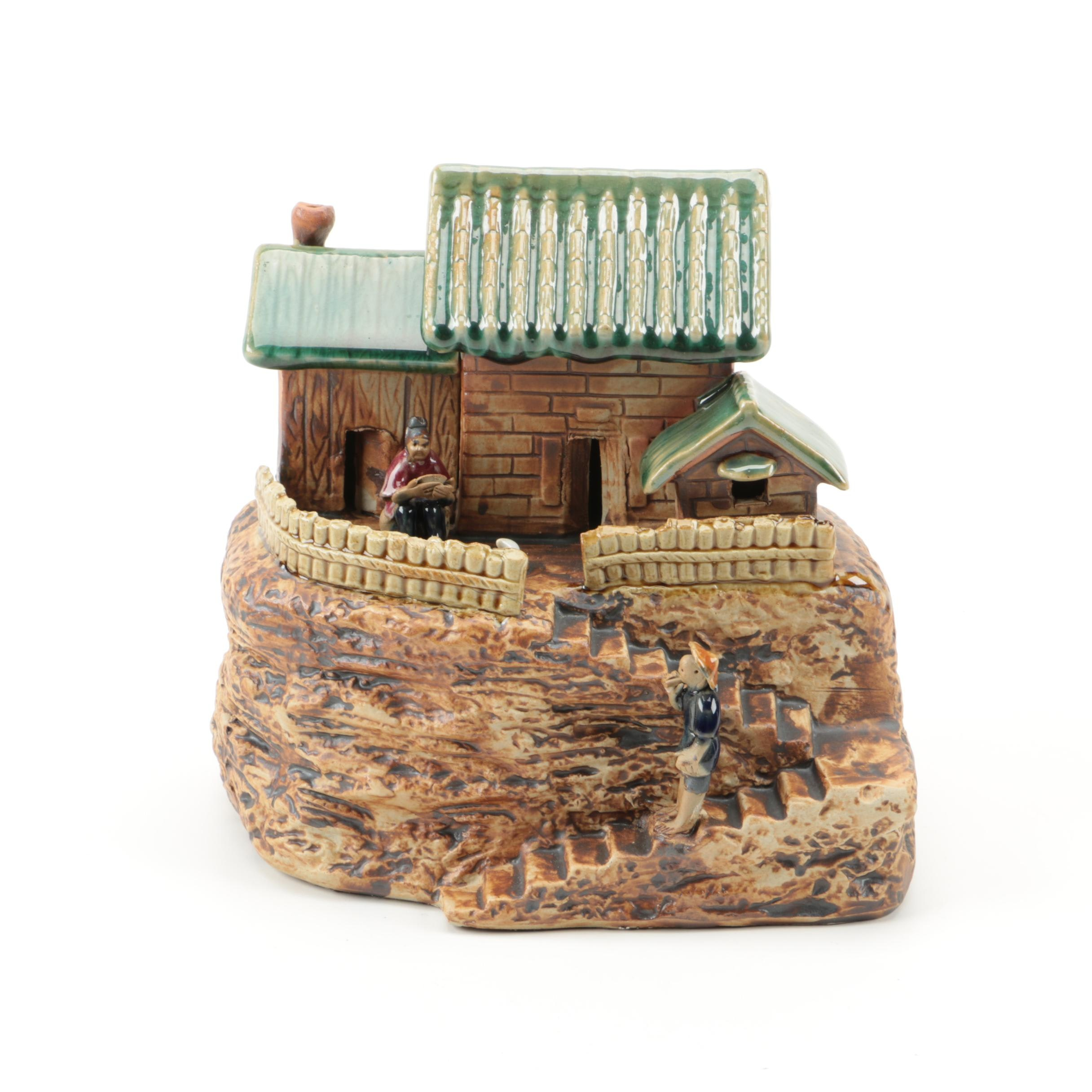 Chinese Cliff House Figurine