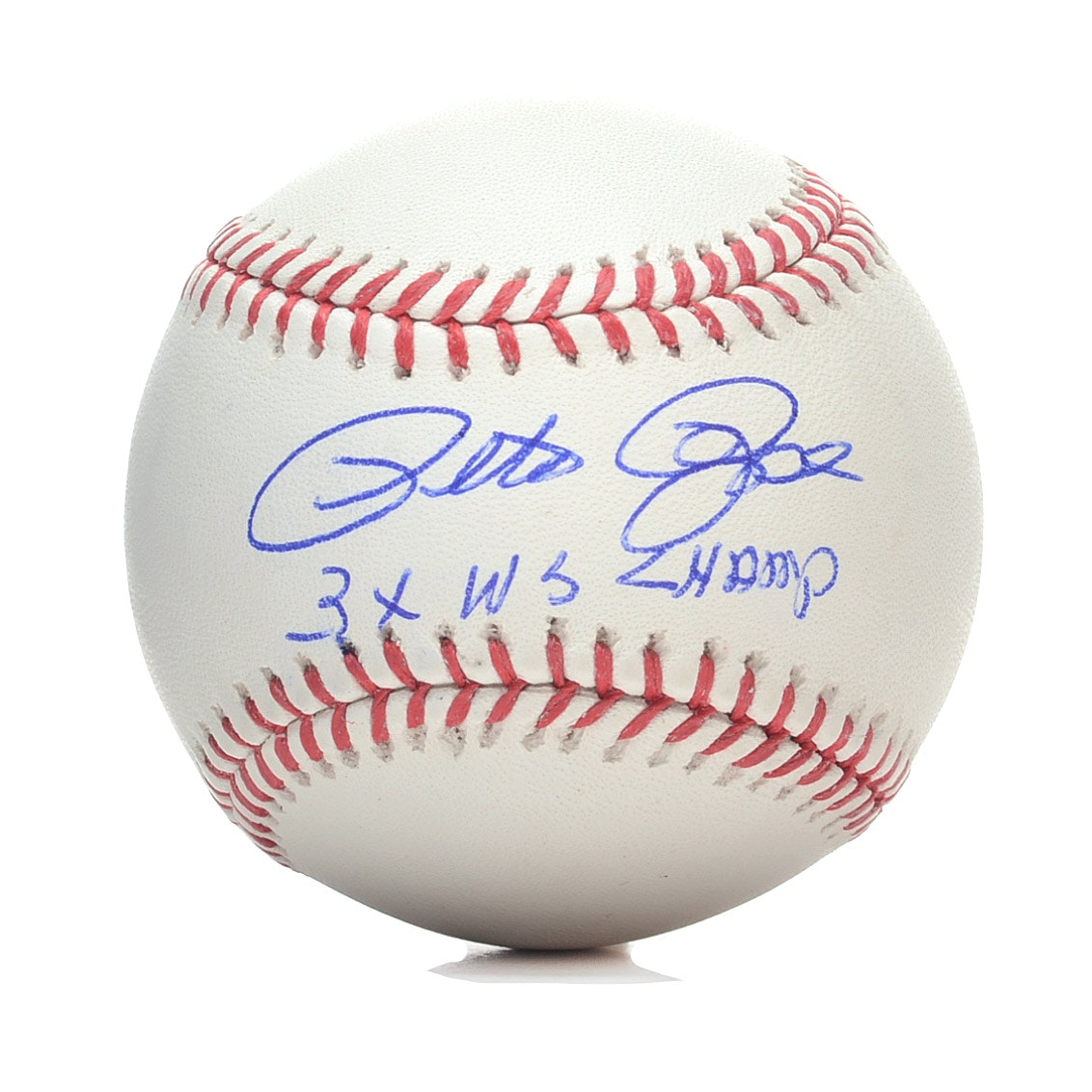 Pete Rose Autographed and Inscribed Baseball  COA