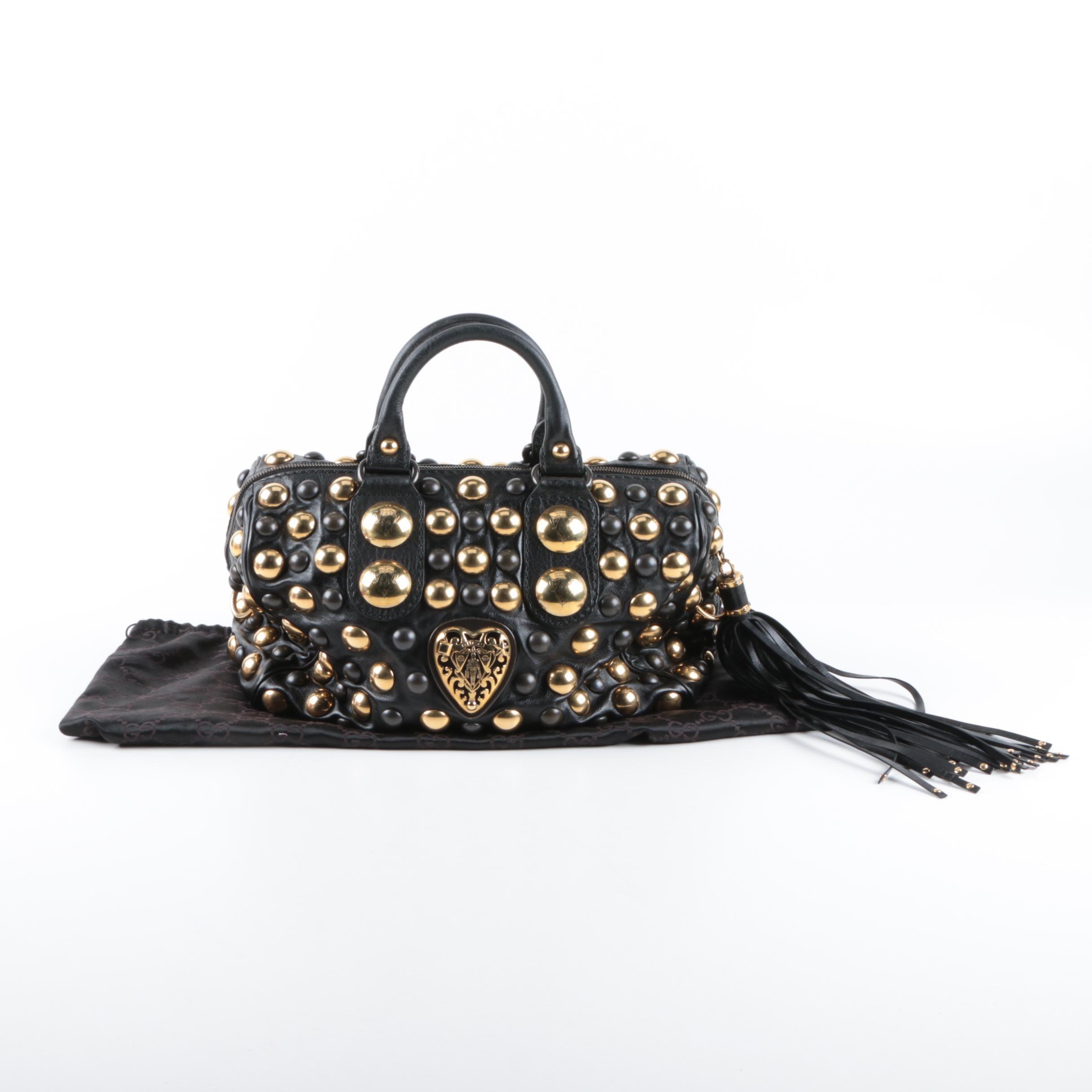 Gucci Babouska Studded Boston Bag
