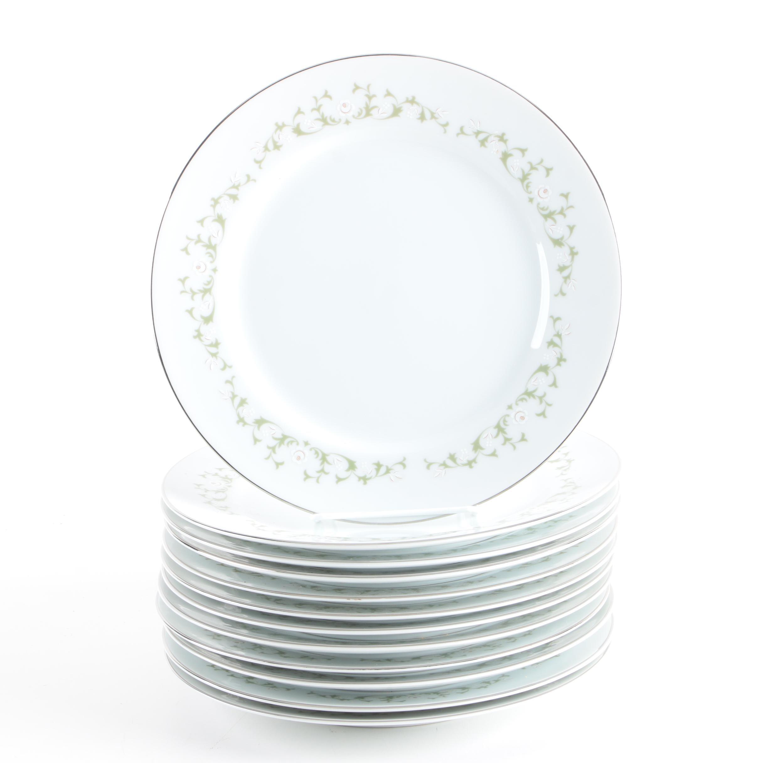 "Sheffield ""Elegance"" Porcelain Dinner Plates"