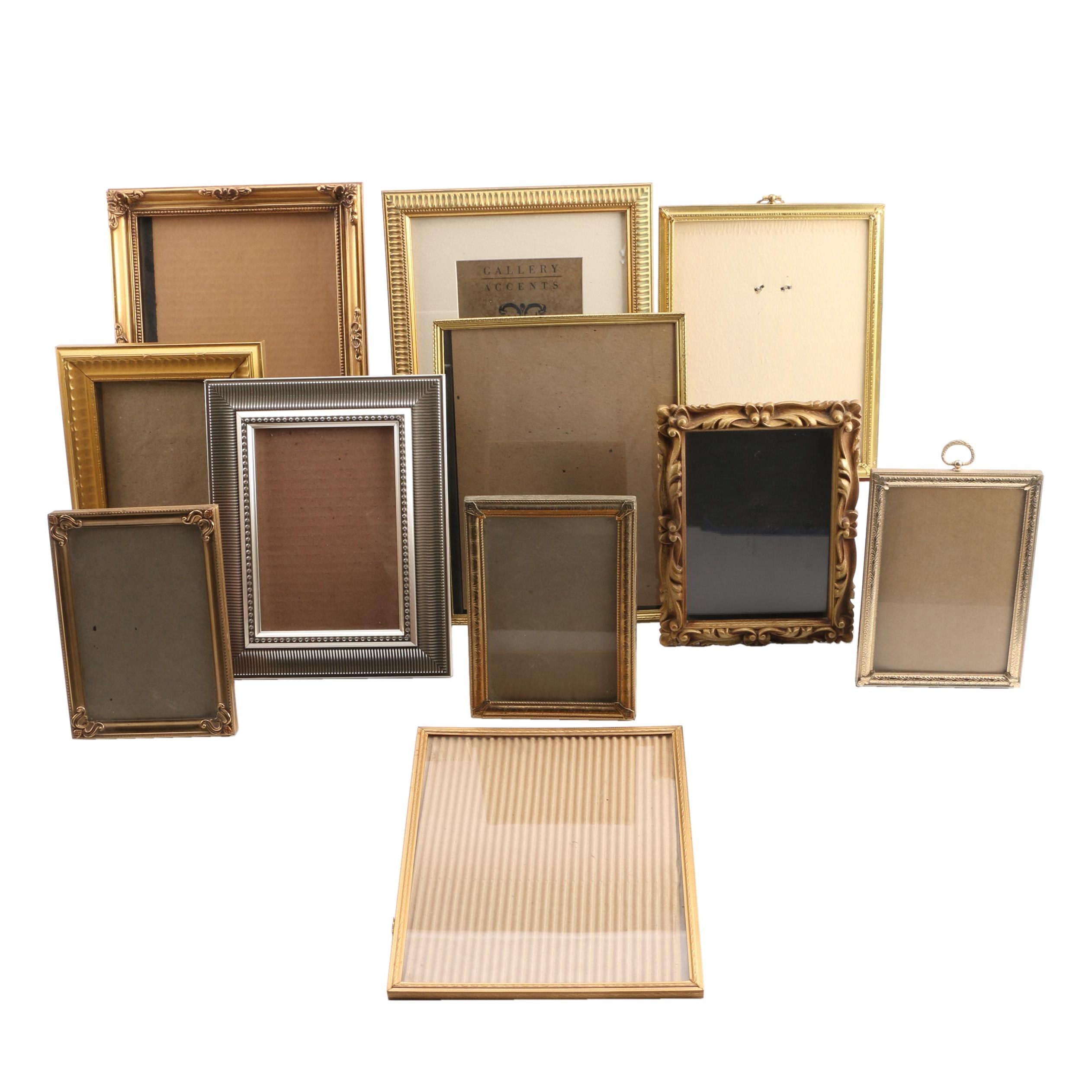 Gold and Silver Toned Table Top Picture Frames