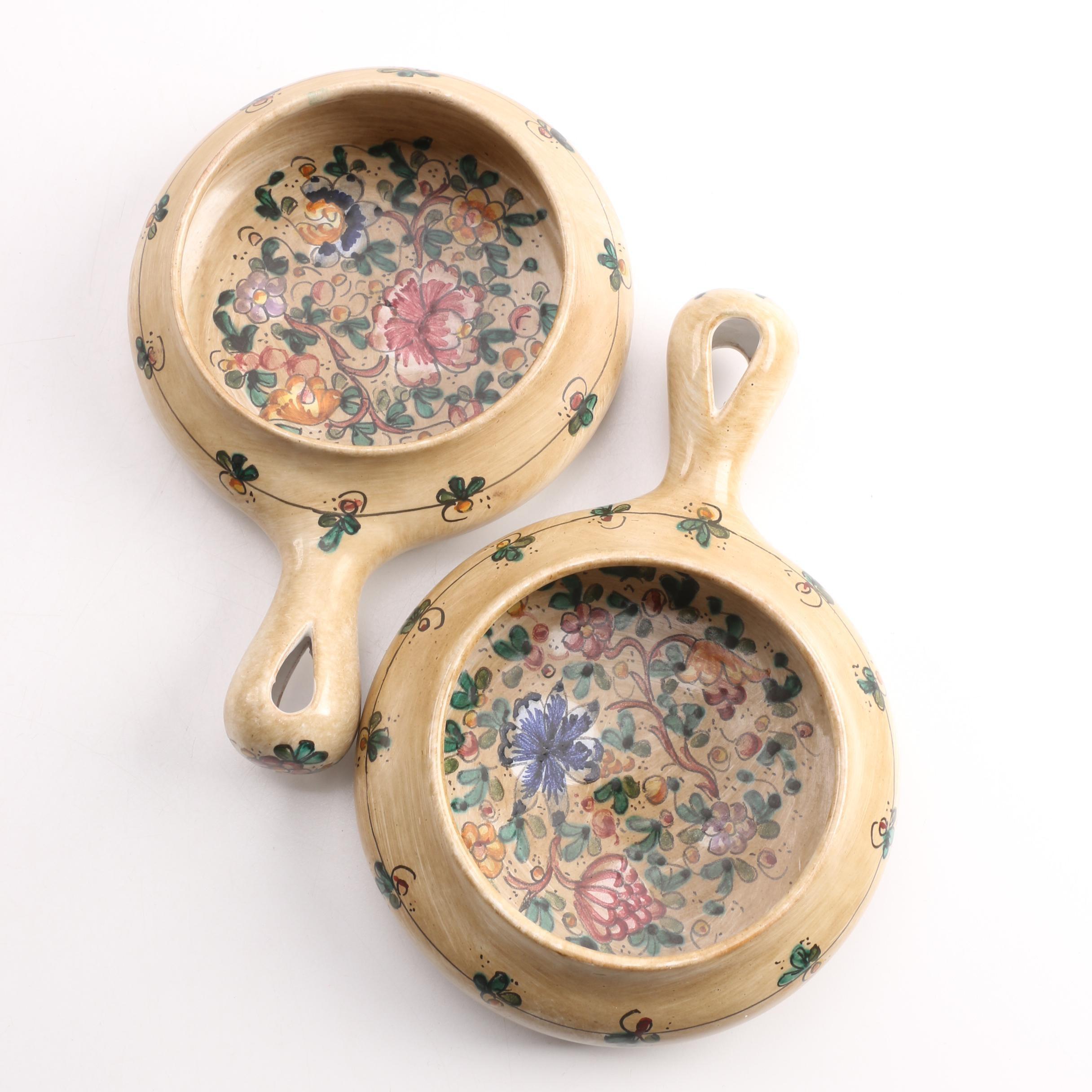 Hand-Painted Italian Ceramic Pipkins