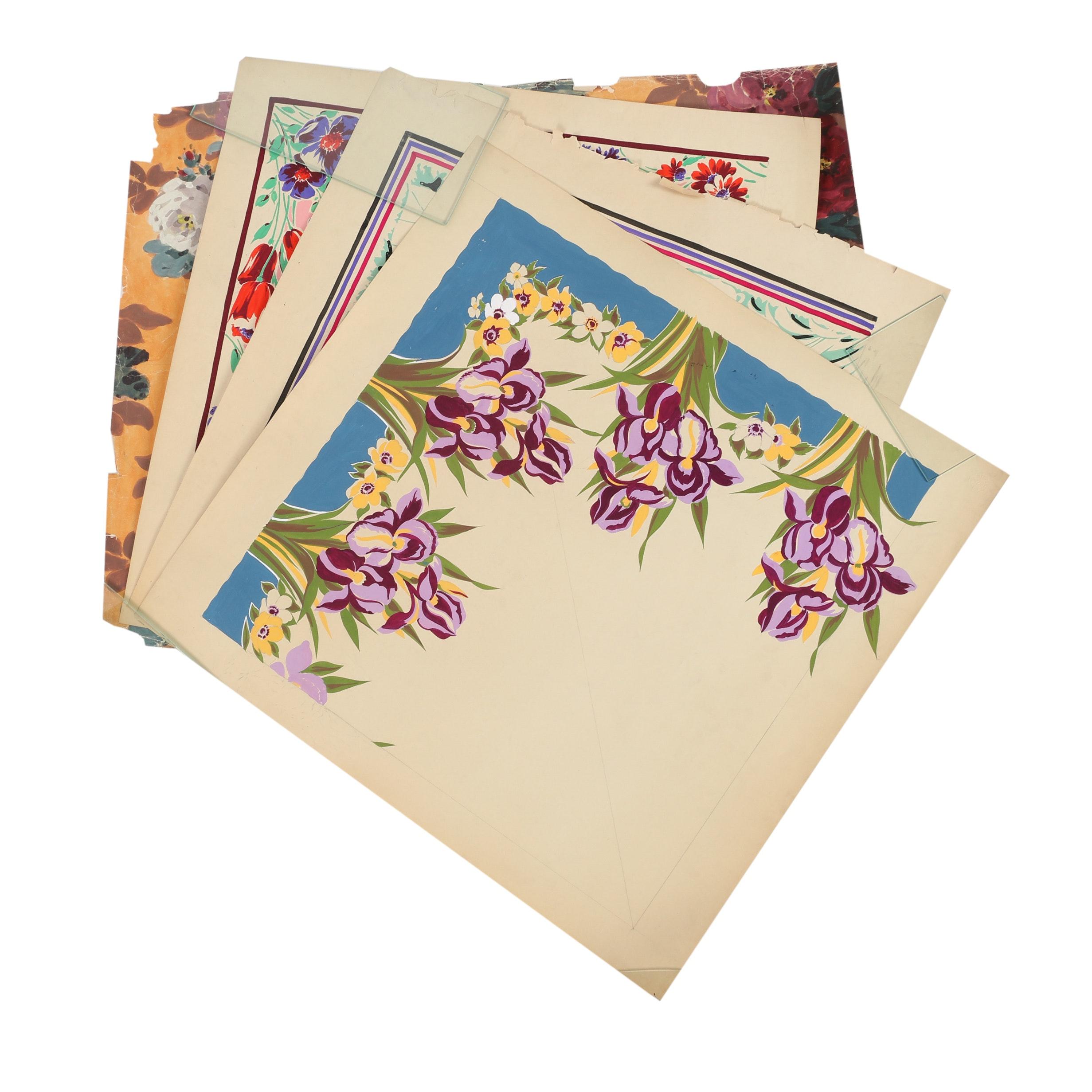 A. Sirooni Inc. Gouache Textile Designs