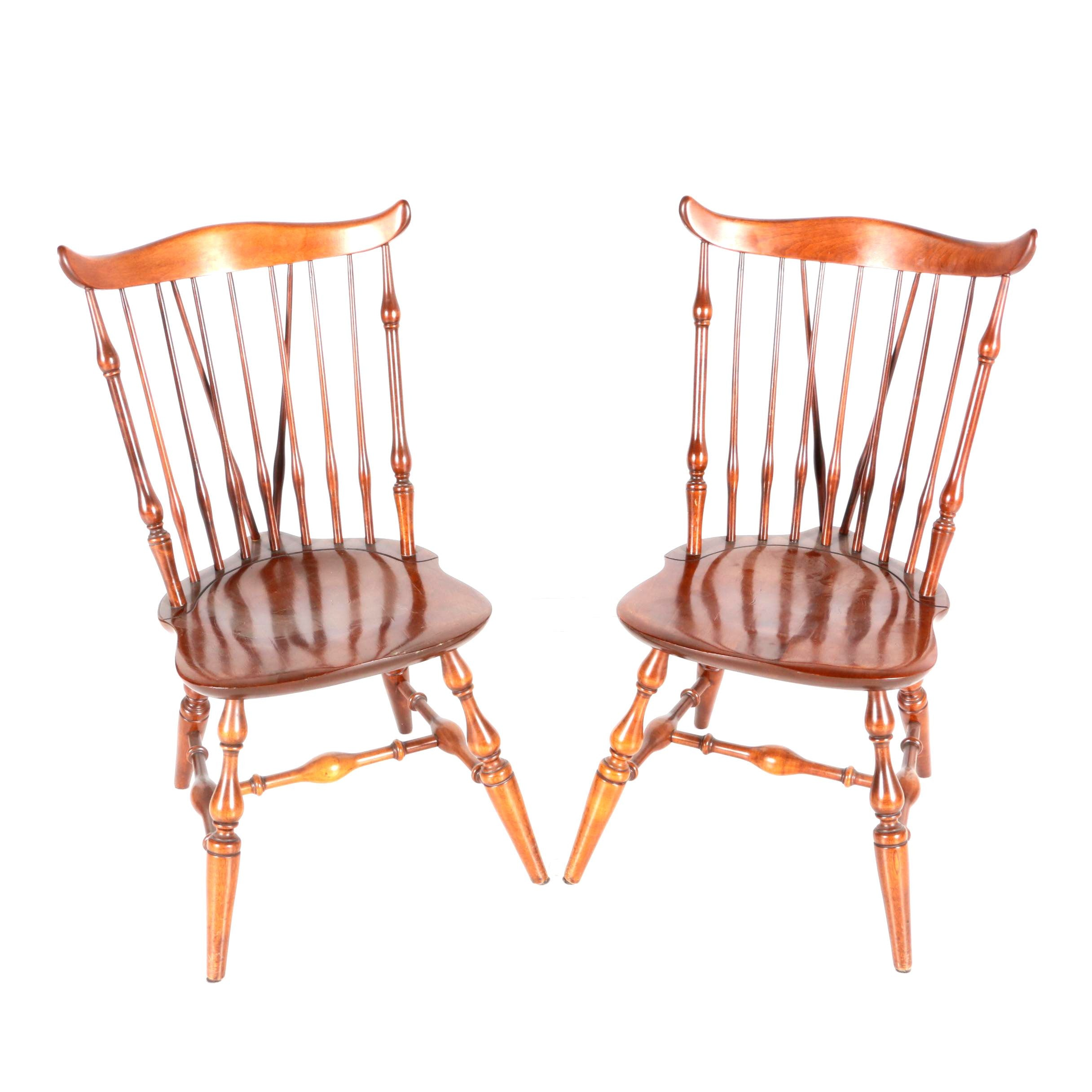 Pair of Maple Windsor Dining Chairs