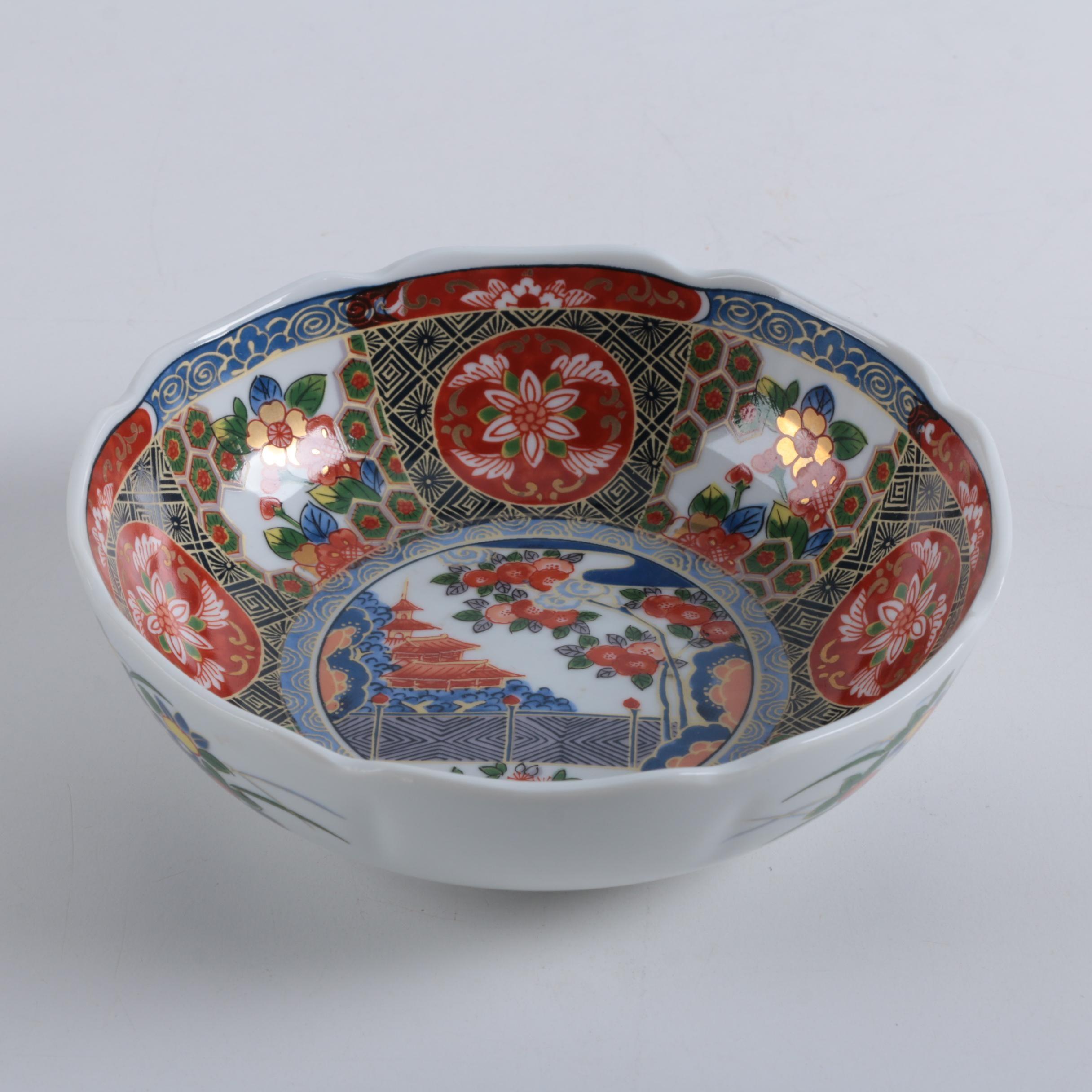 Andrea by Sadek Imari Style Ceramic Bowl