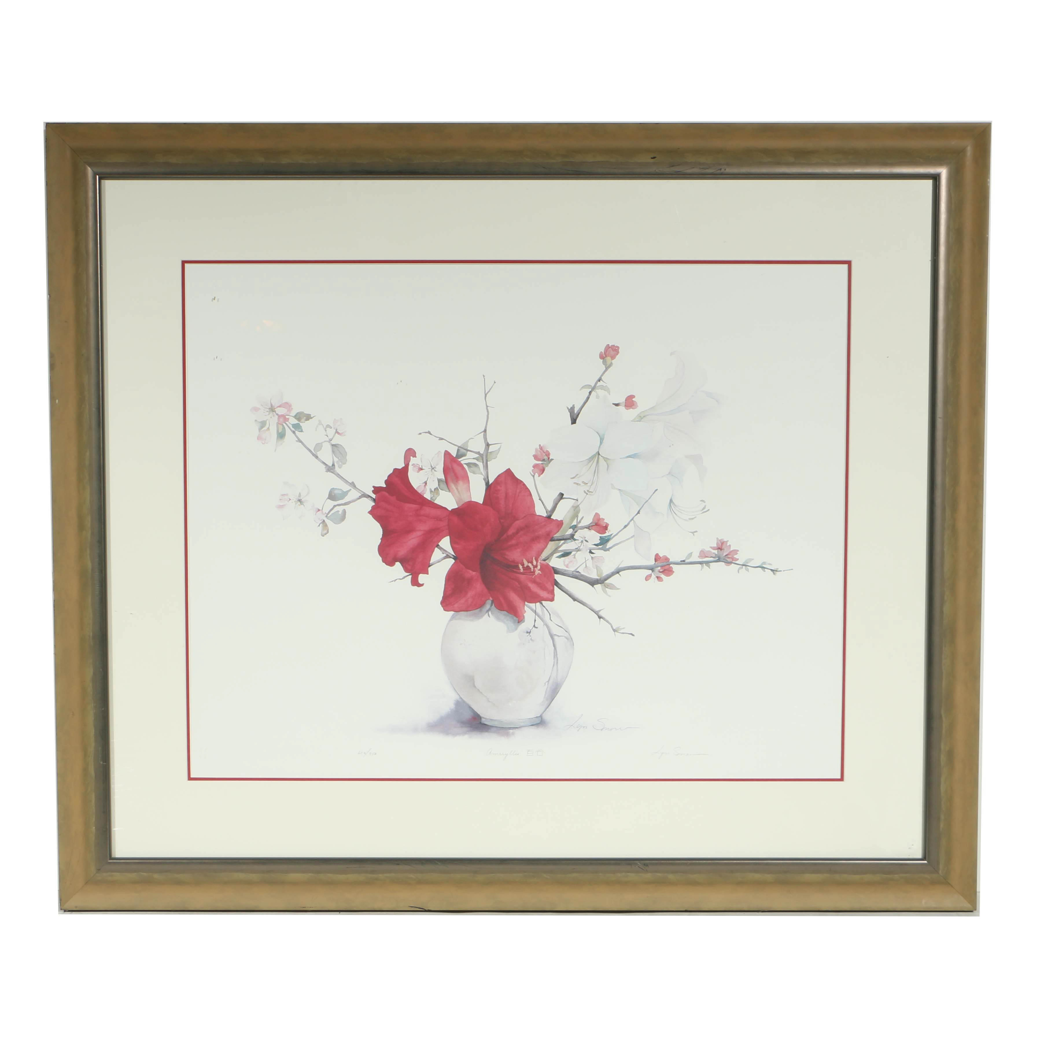 "Lyn Snow Limited Edition Offset Lithograph ""Amaryllis"""