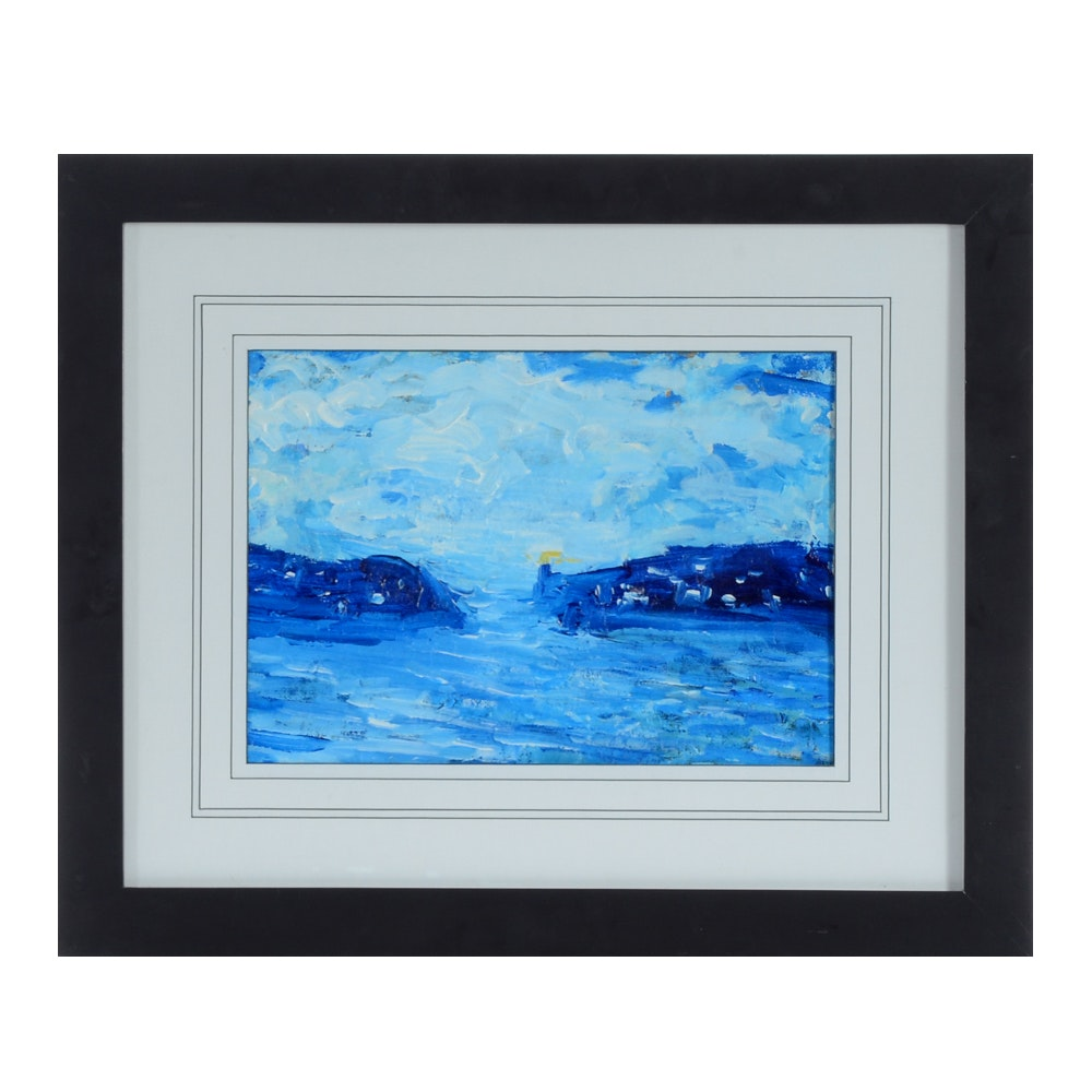"William Becker Original Acrylic Painting ""Safe Harbor"""