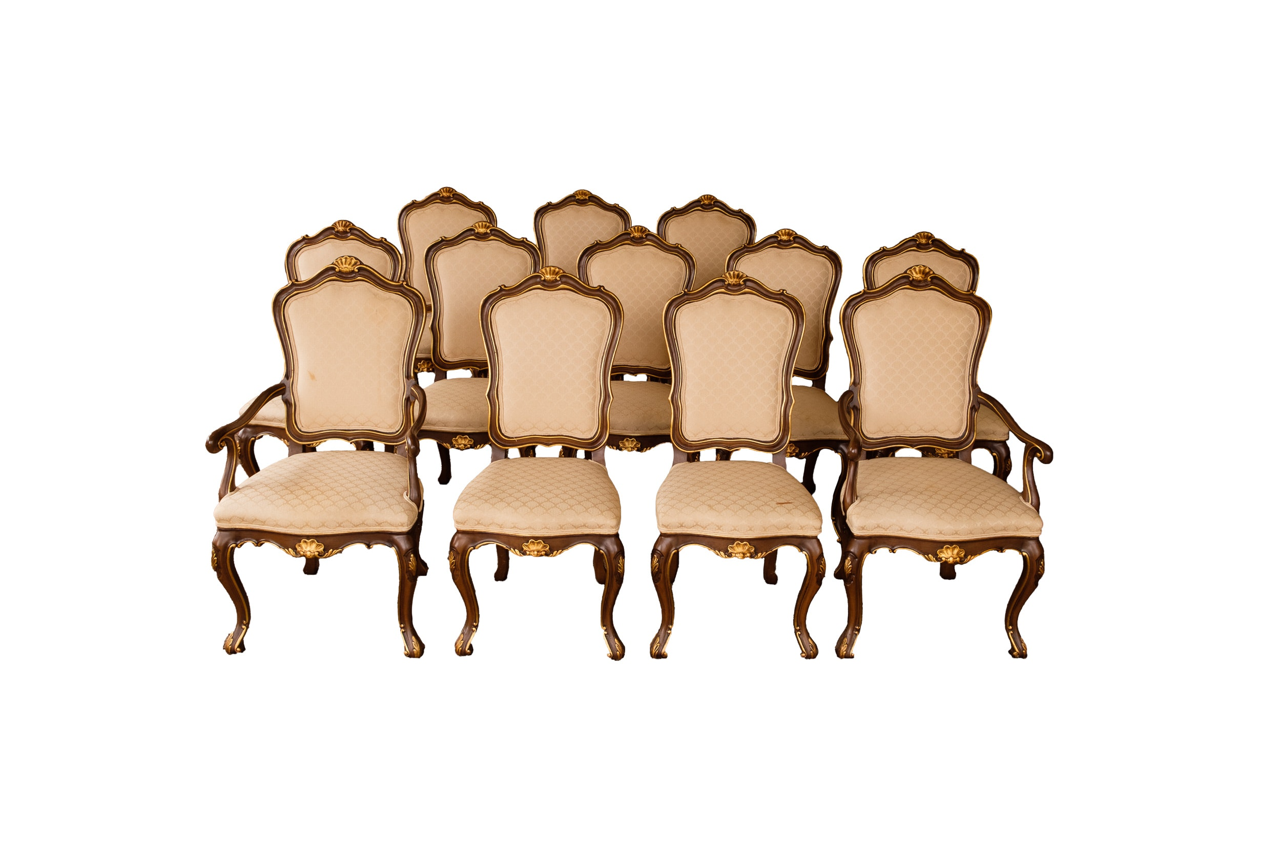 Twelve Louis XV Style Dining Chairs By Karges ...