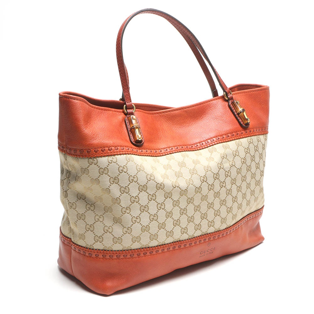 Gucci Laidback Crafty Original GG Canvas Tote