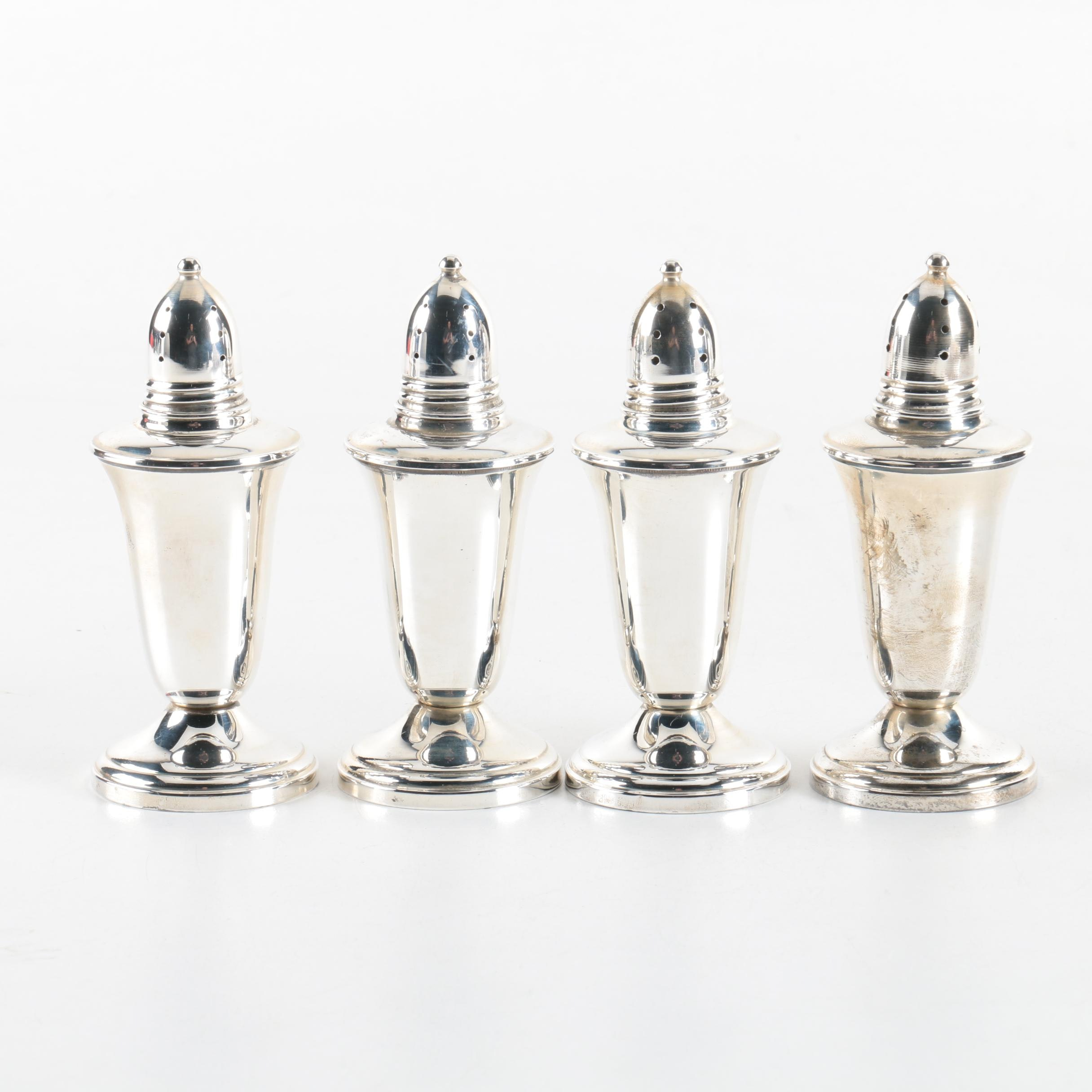 Collection of Crown Silver Co. Weighted Sterling Silver Salt and Pepper Shakers