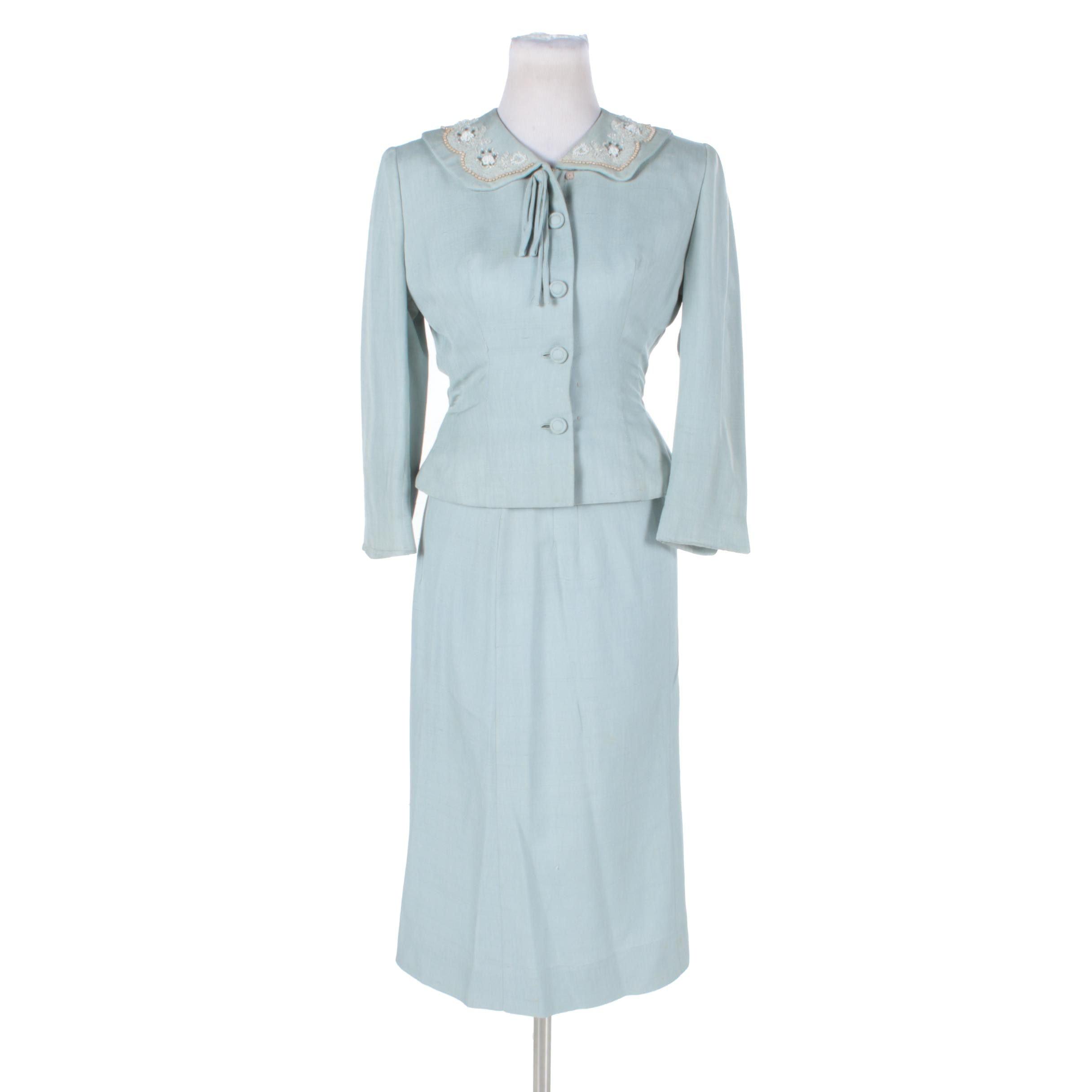 Circa 1940s Vintage Skirt Suit