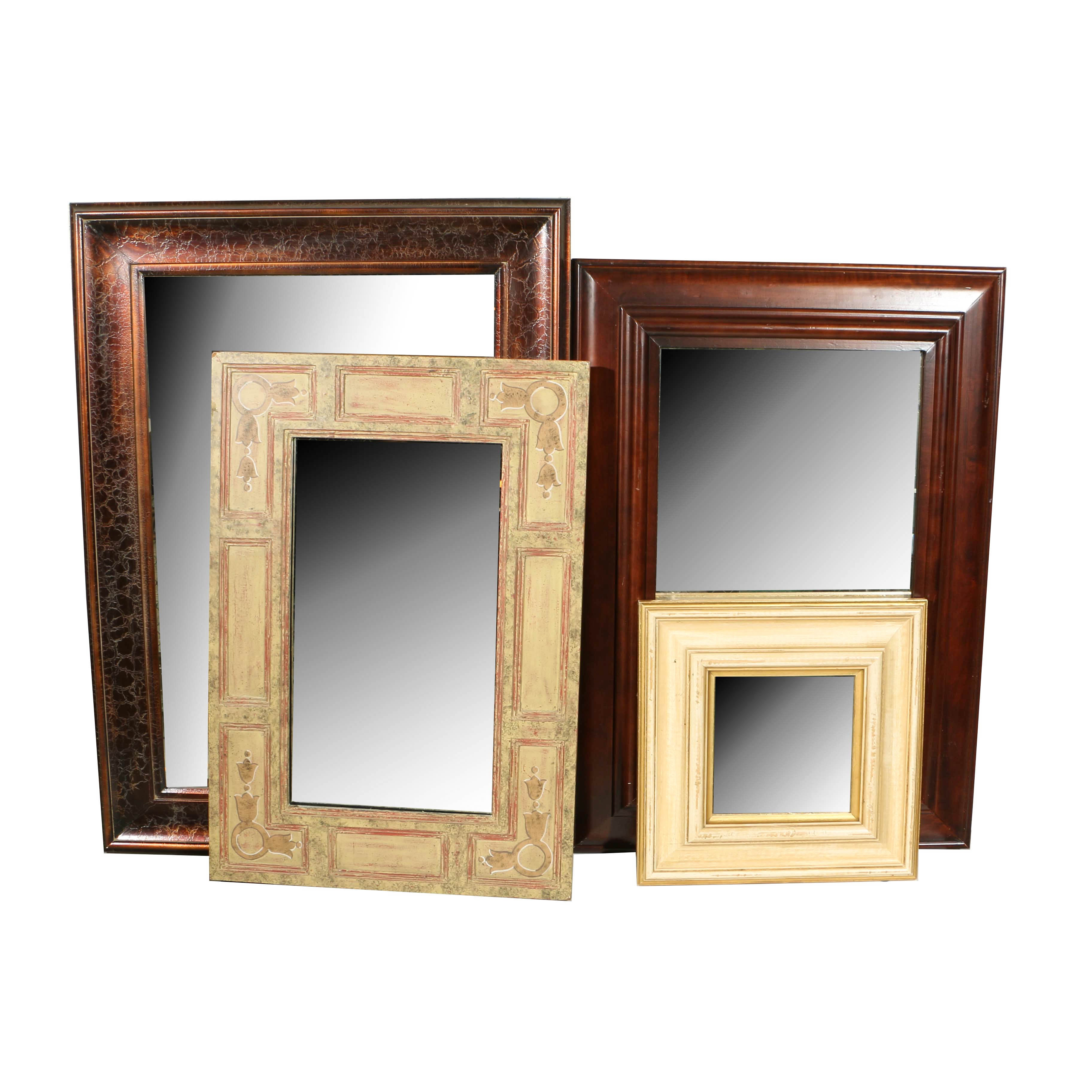 Four Decorative Wall Mirrors in Various Sizes