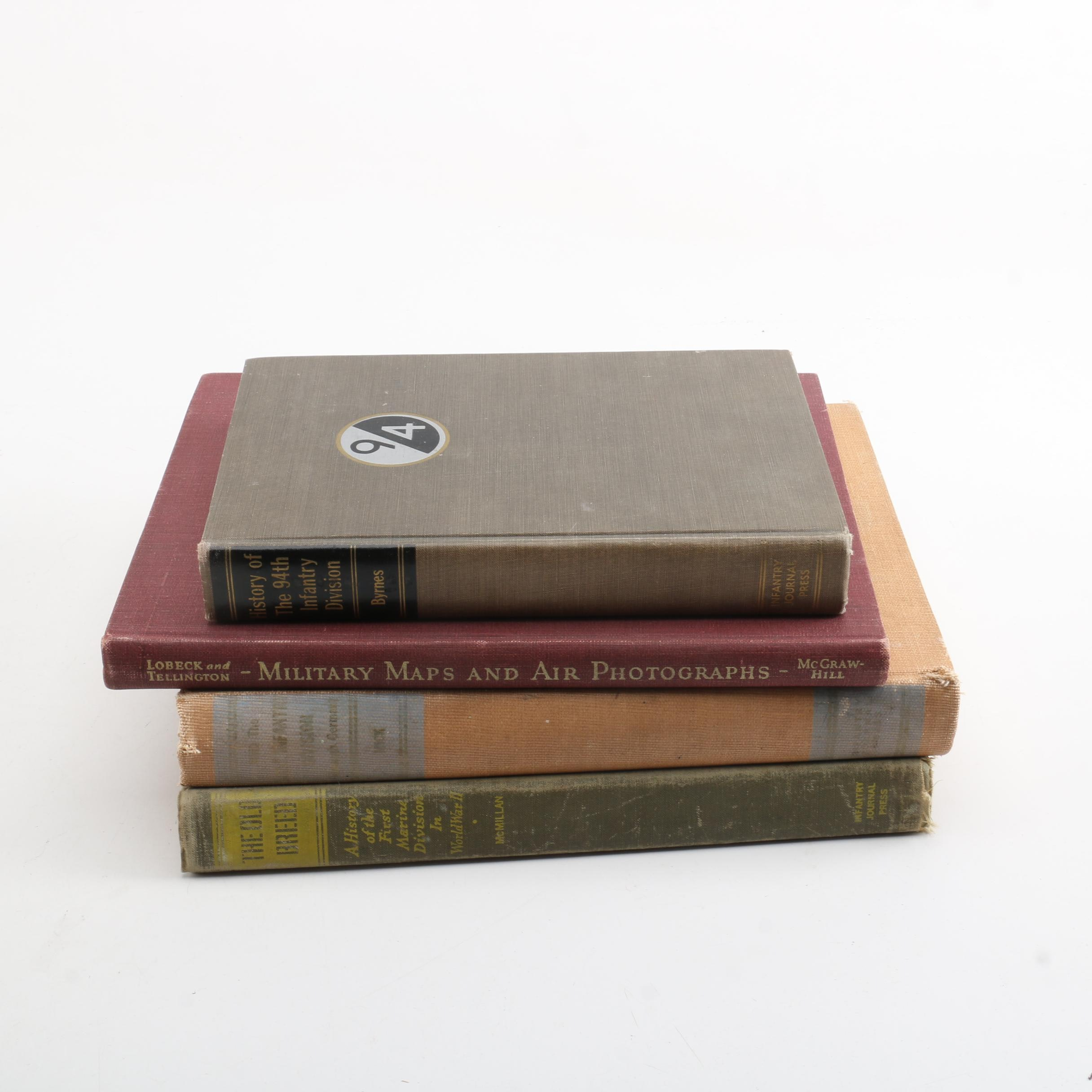 """Vintage Books on the Military Including 1949 """"The Old Breed"""" by George McMillan"""