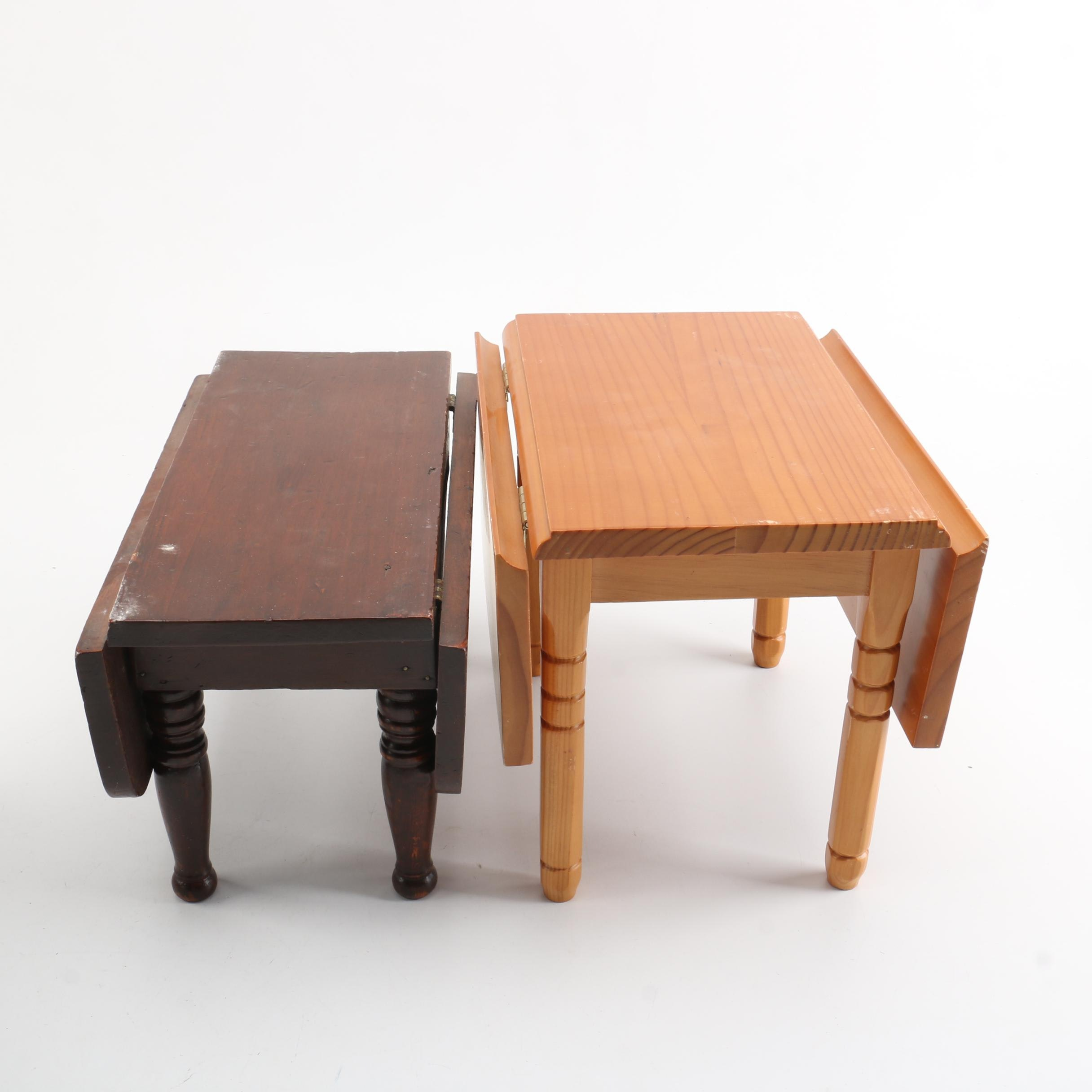 Miniature Drop Leaf Tables