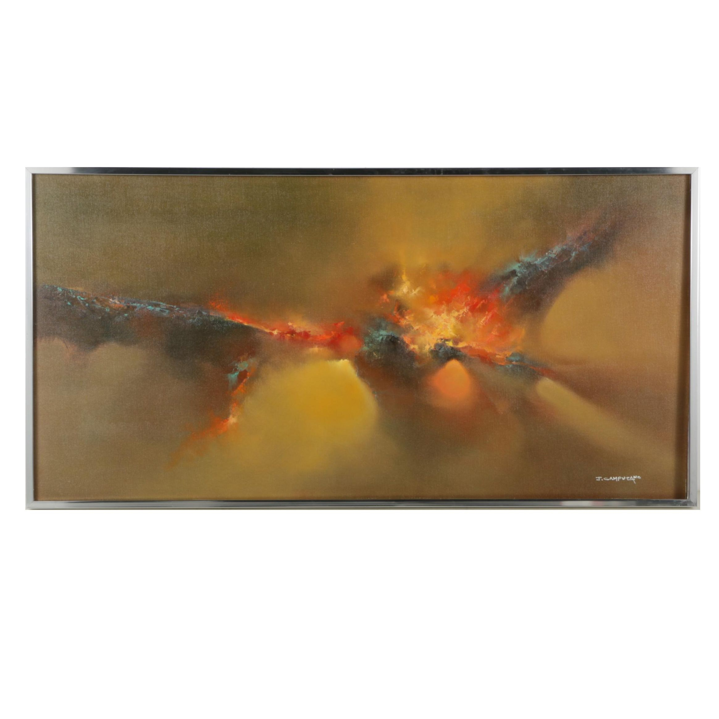 Jose Luis Campuzano Abstract Oil Painting