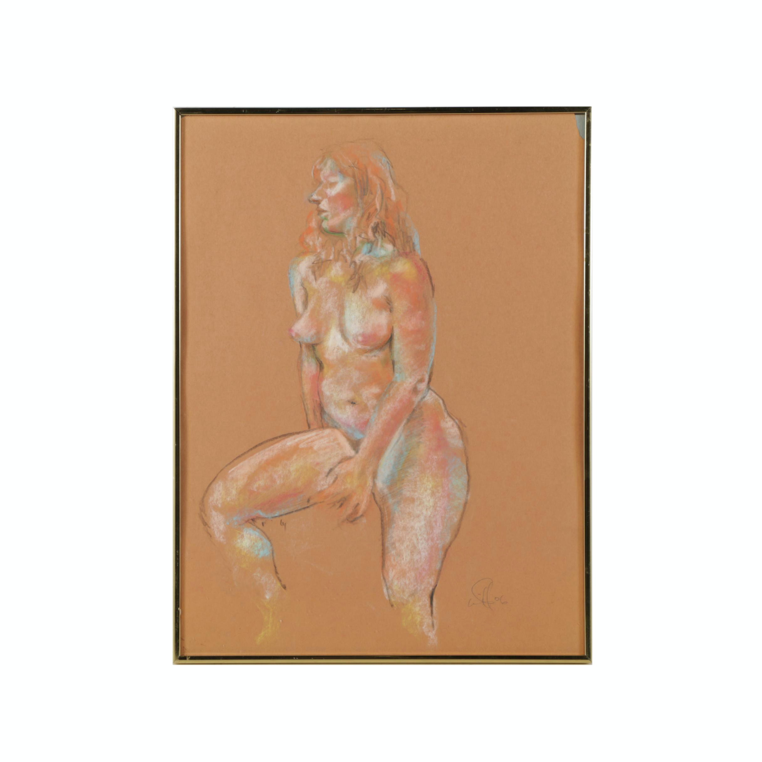 Will McCullough 2006 Pastel Drawing of Figure Study