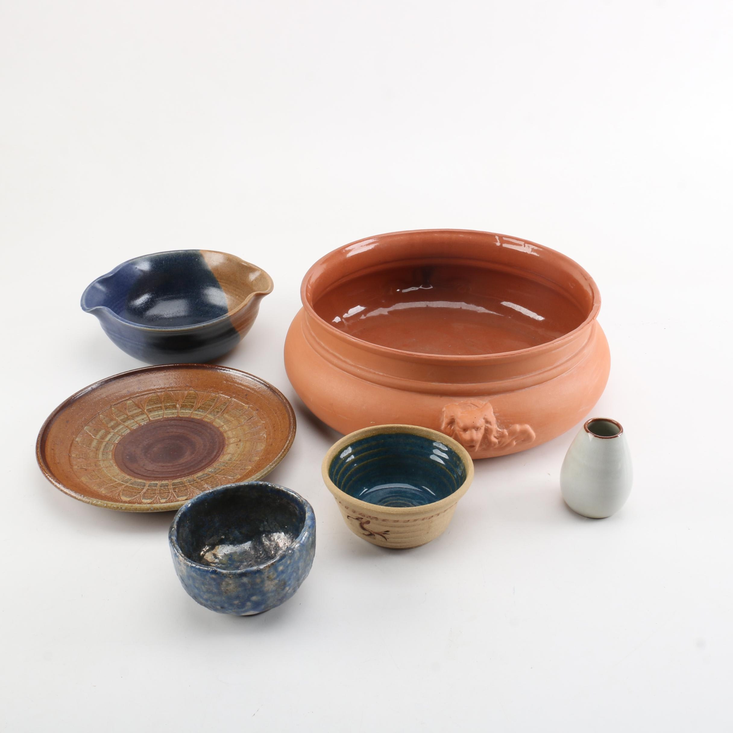 Art Pottery Bowls and Vase